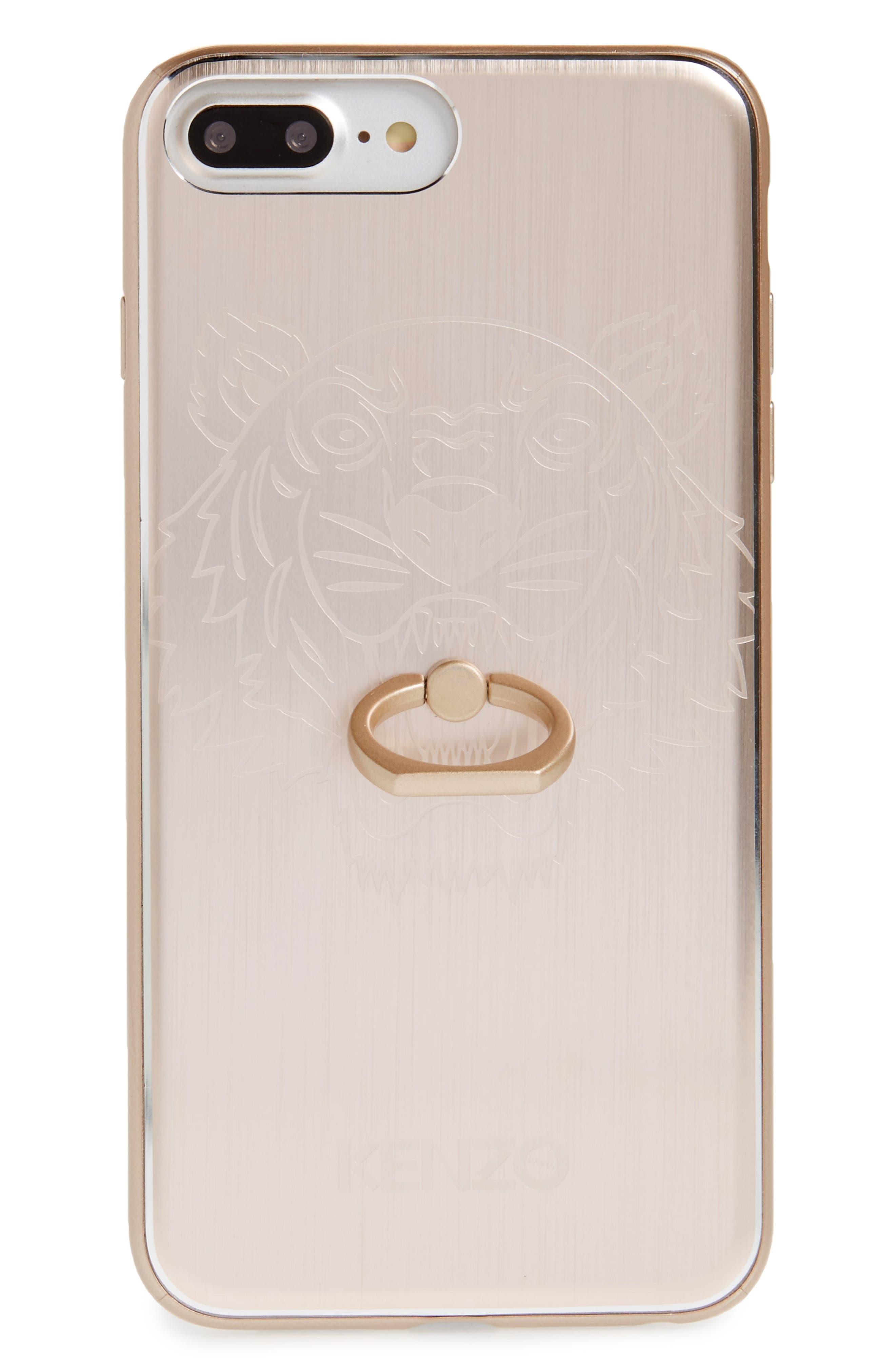 Tiger Ring Aluminum iPhone 7 Plus Case,                         Main,                         color, Gold