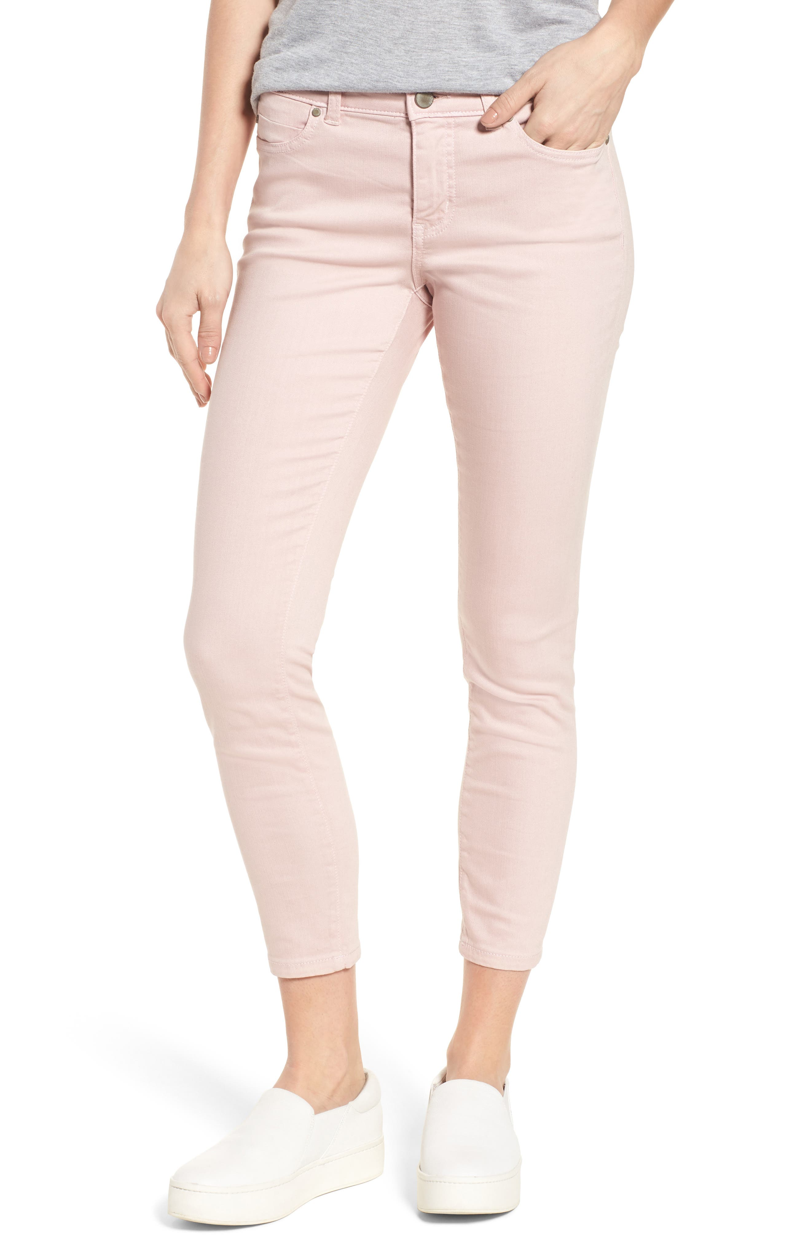 Skinny Ankle Jeans,                         Main,                         color, Pink Puff