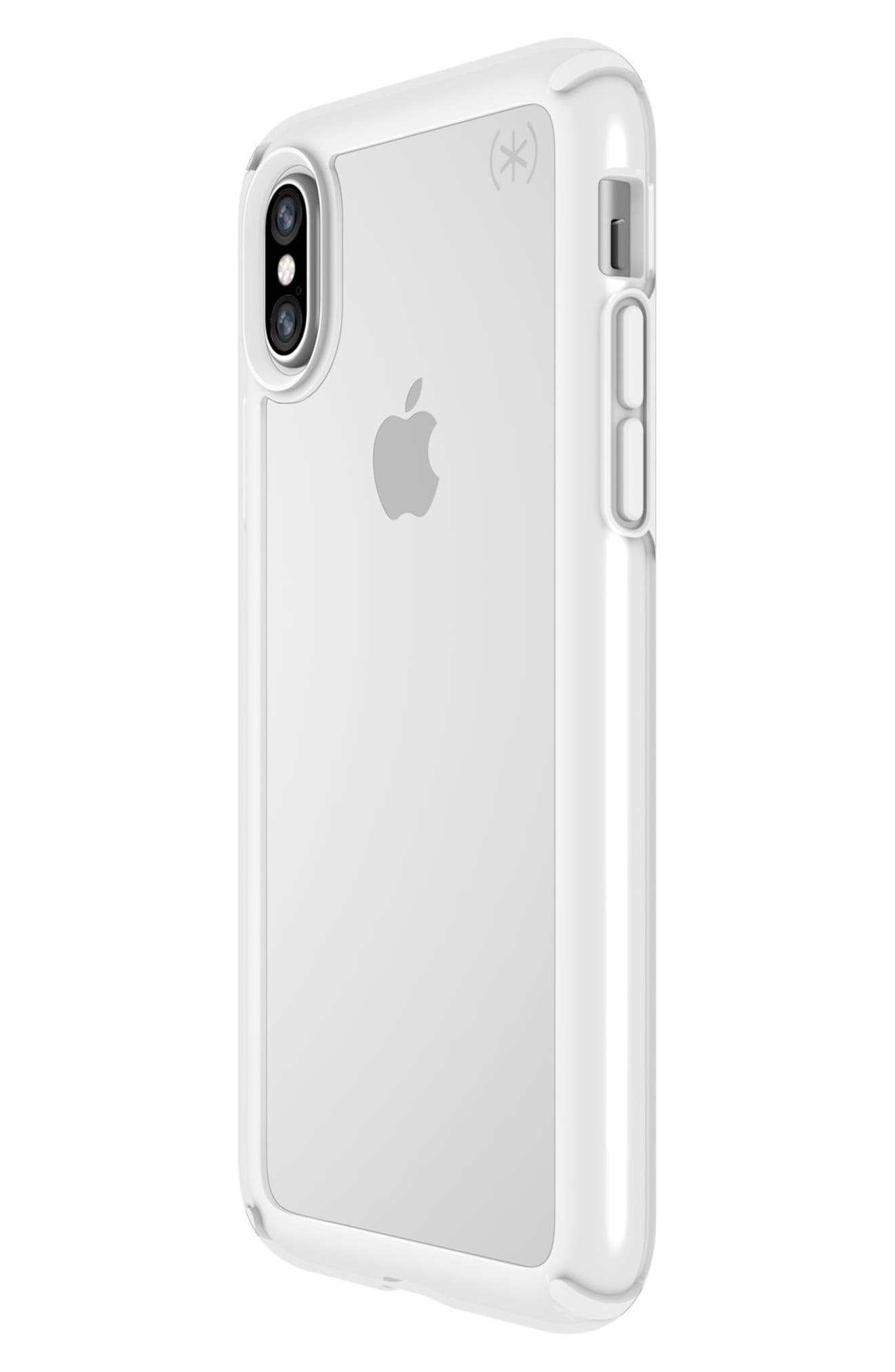 Transparent iPhone X Case,                             Alternate thumbnail 3, color,                             Clear/ Bright White