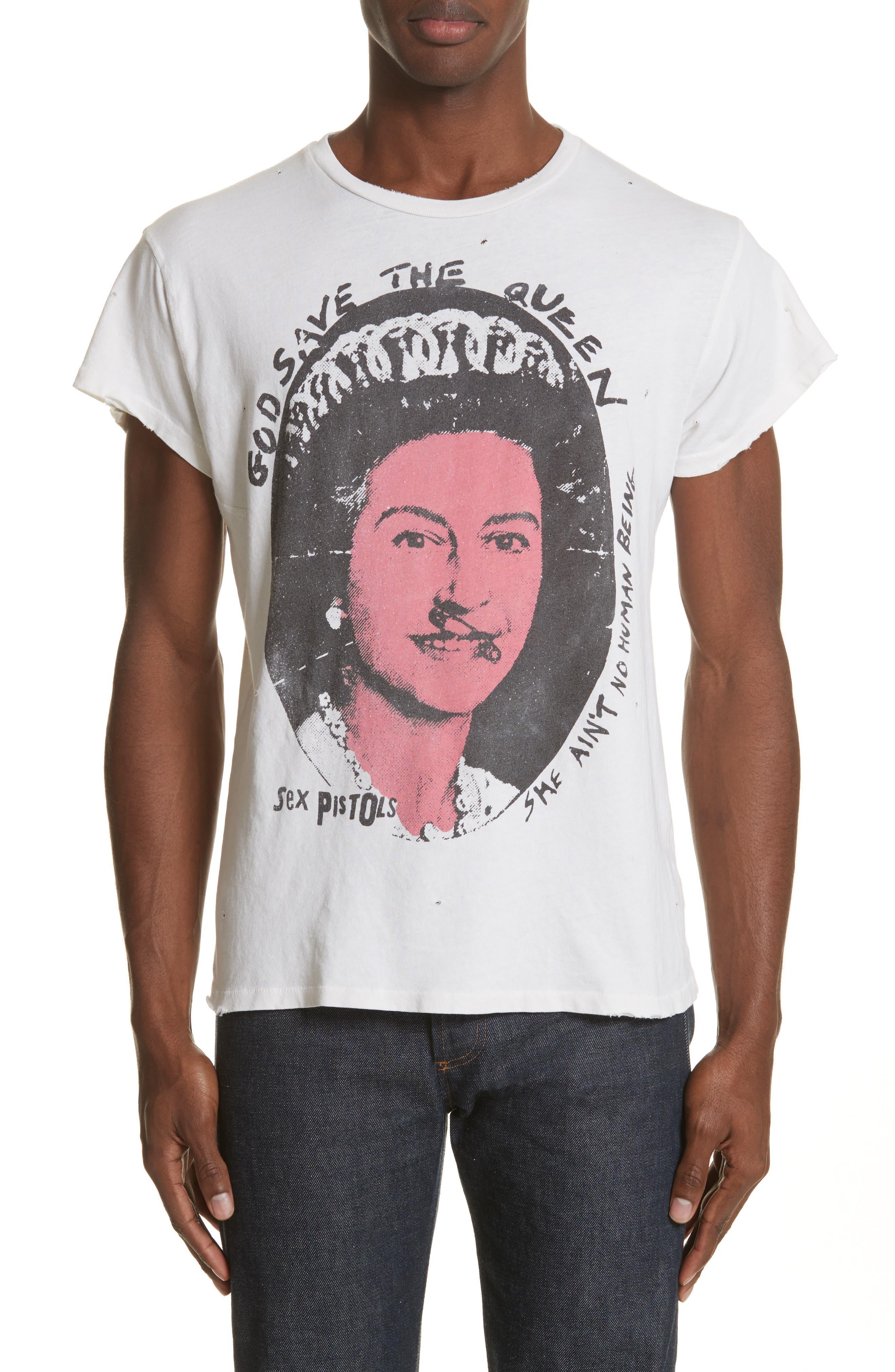 Sex Pistols Graphic T-Shirt,                             Main thumbnail 1, color,                             Off White