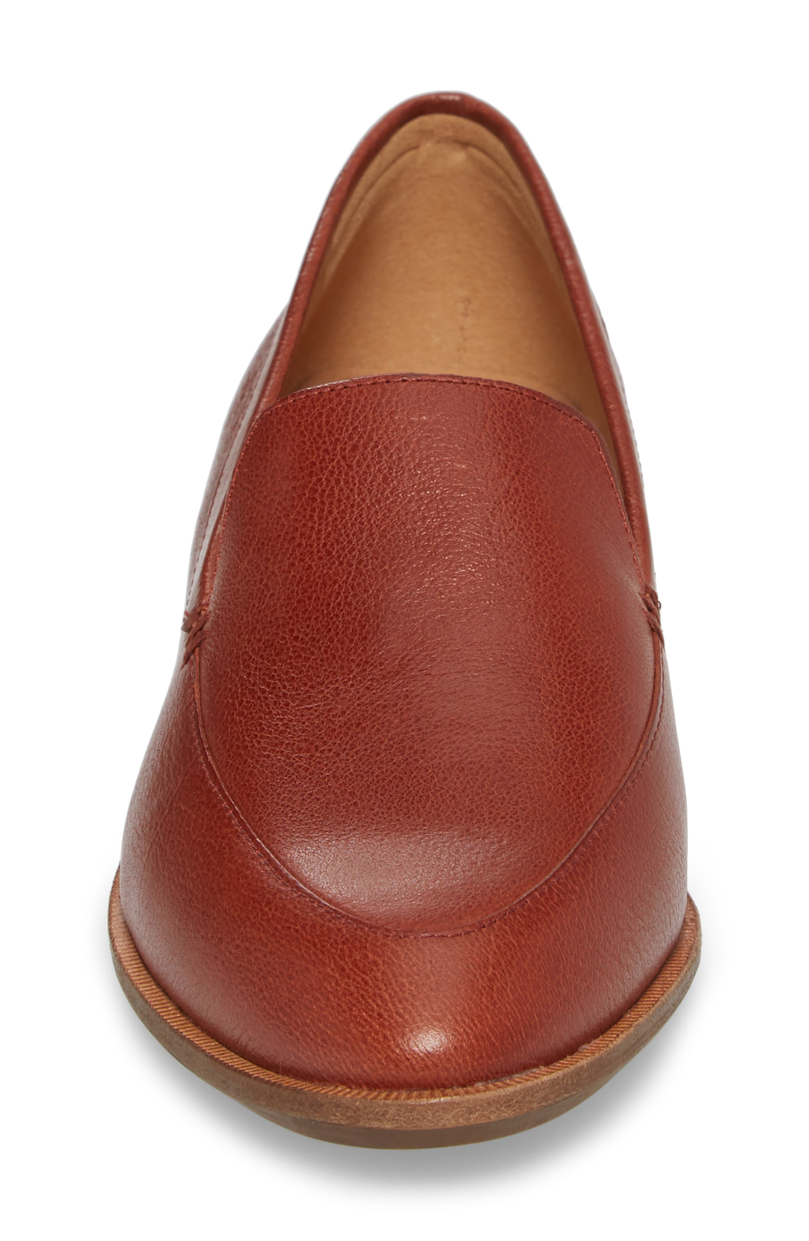 Frances Loafer,                             Alternate thumbnail 4, color,                             Burnished Mahogany Leather