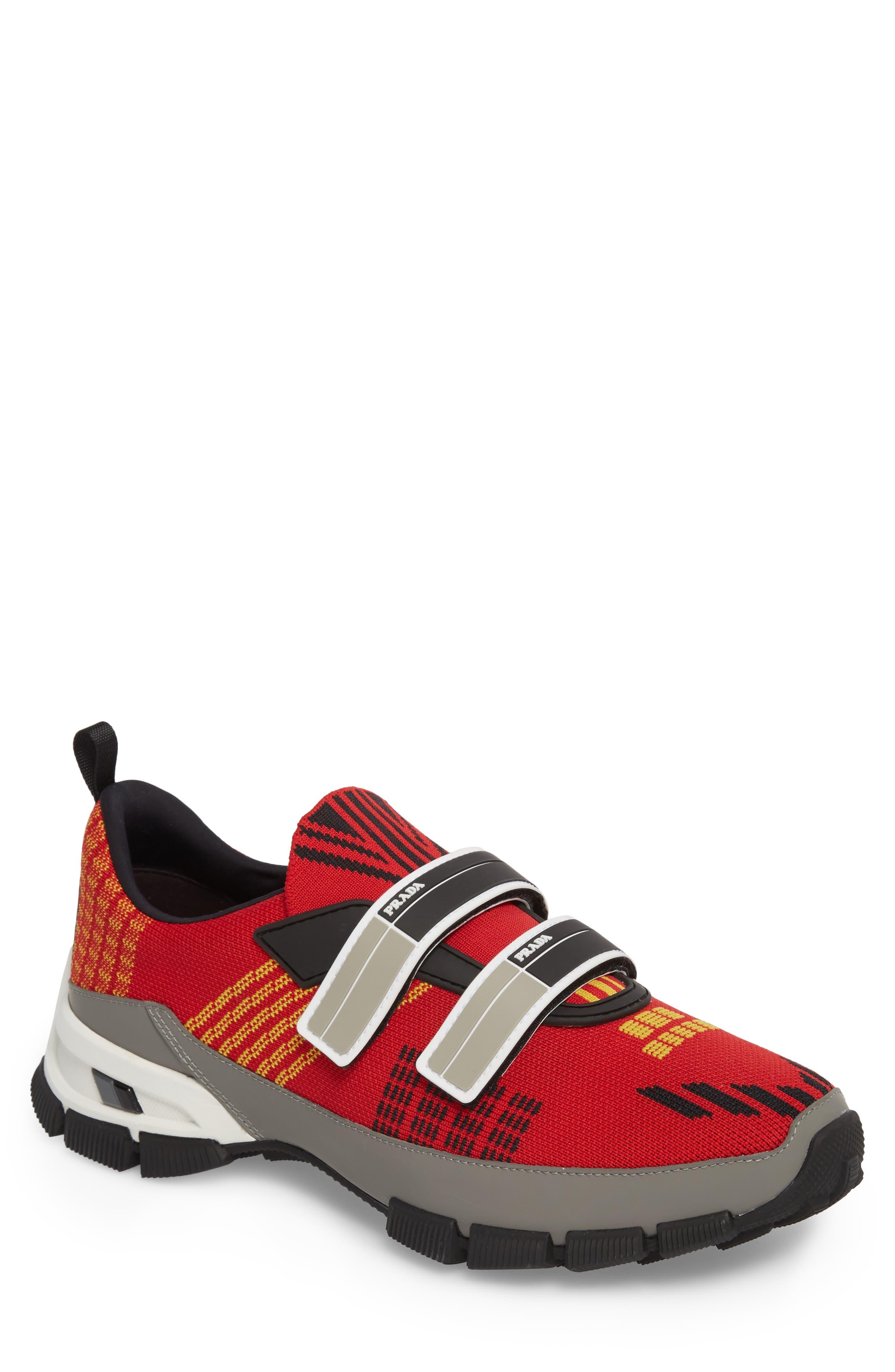 Linea Rossa Strap Sneaker,                             Main thumbnail 1, color,                             Scarlatto Red