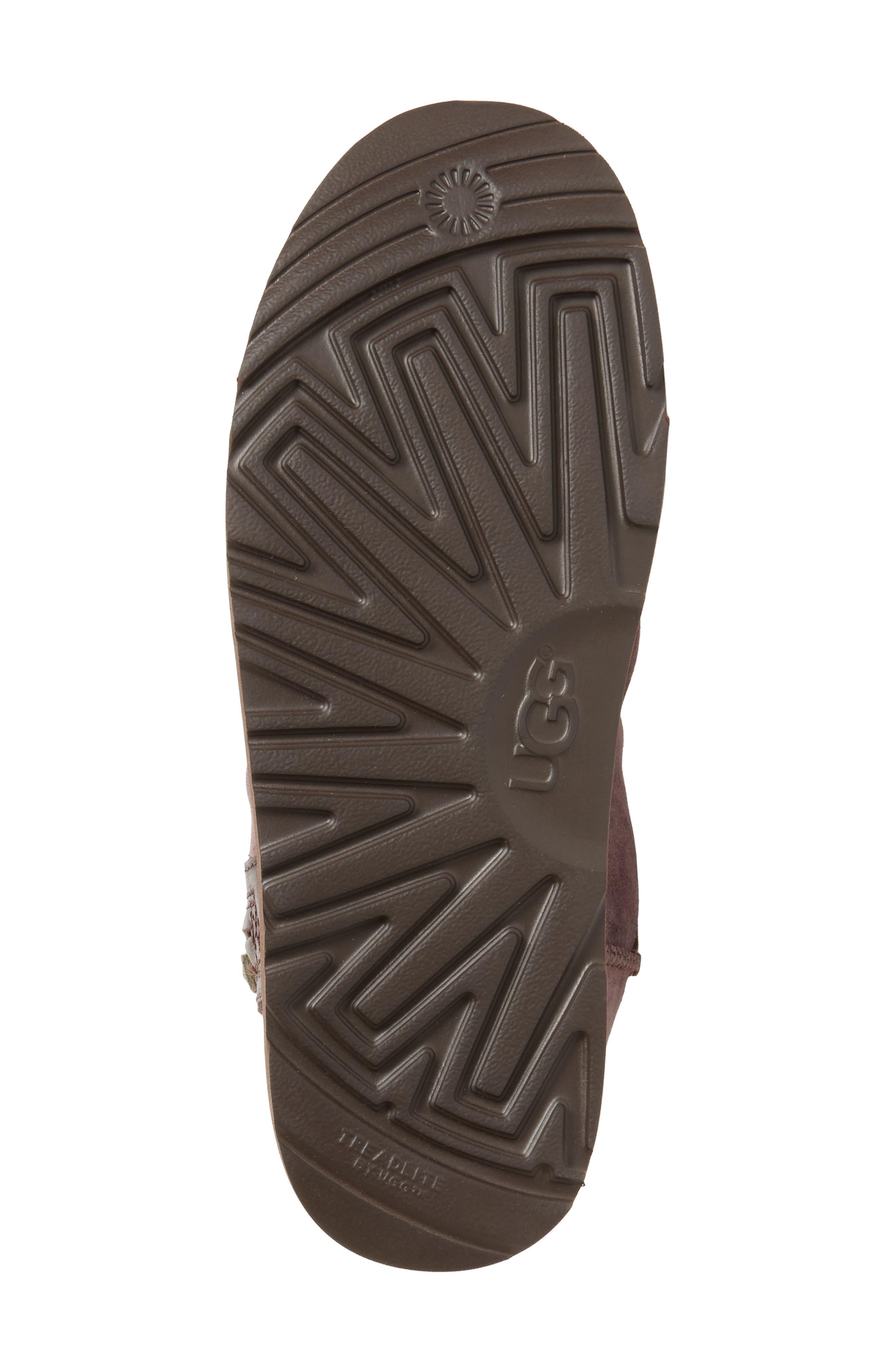 Mini Zip Waterproof Boot,                             Alternate thumbnail 6, color,                             Cordovan