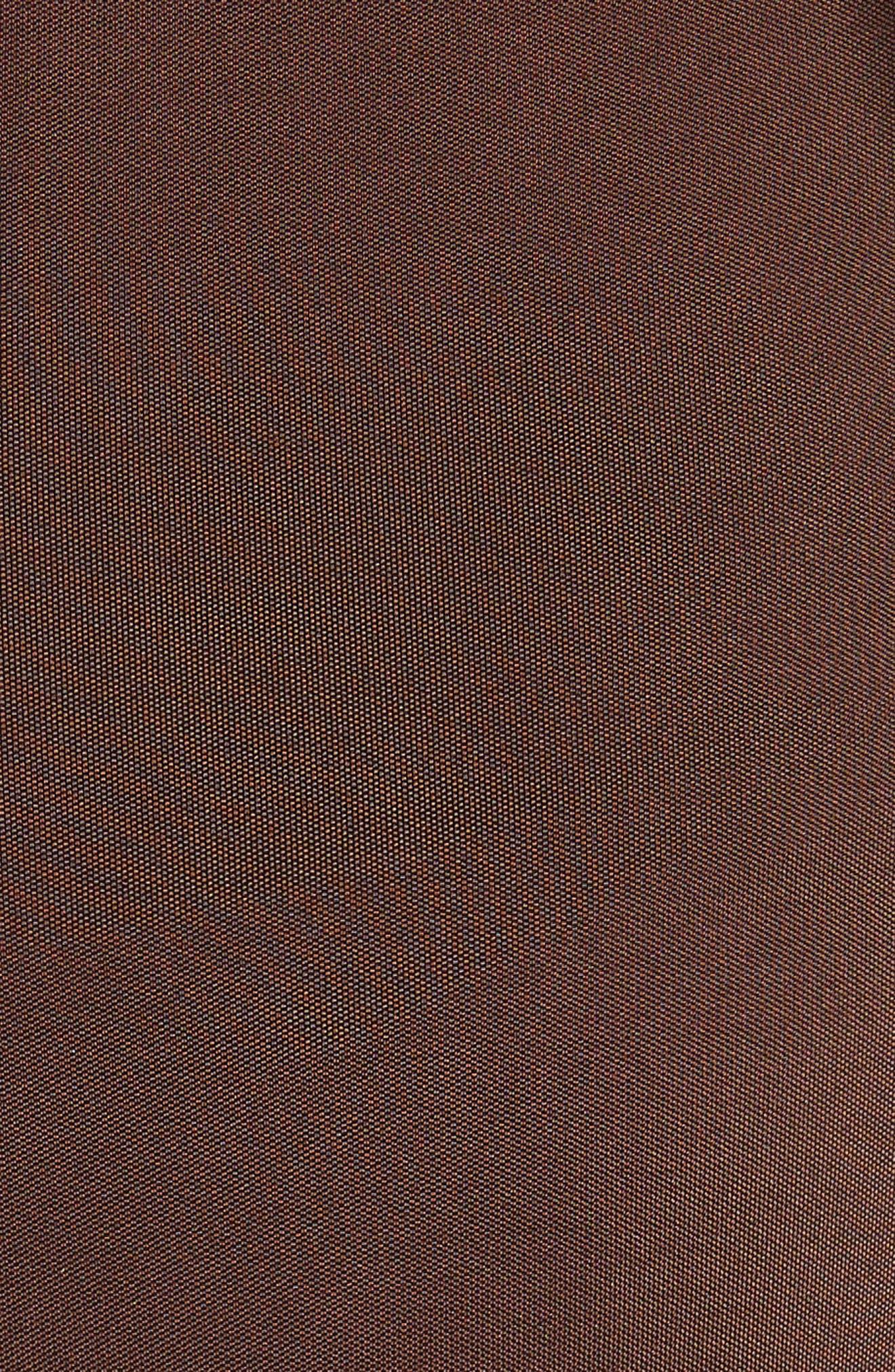 Jersey One-Shoulder Dress,                             Alternate thumbnail 5, color,                             Umber