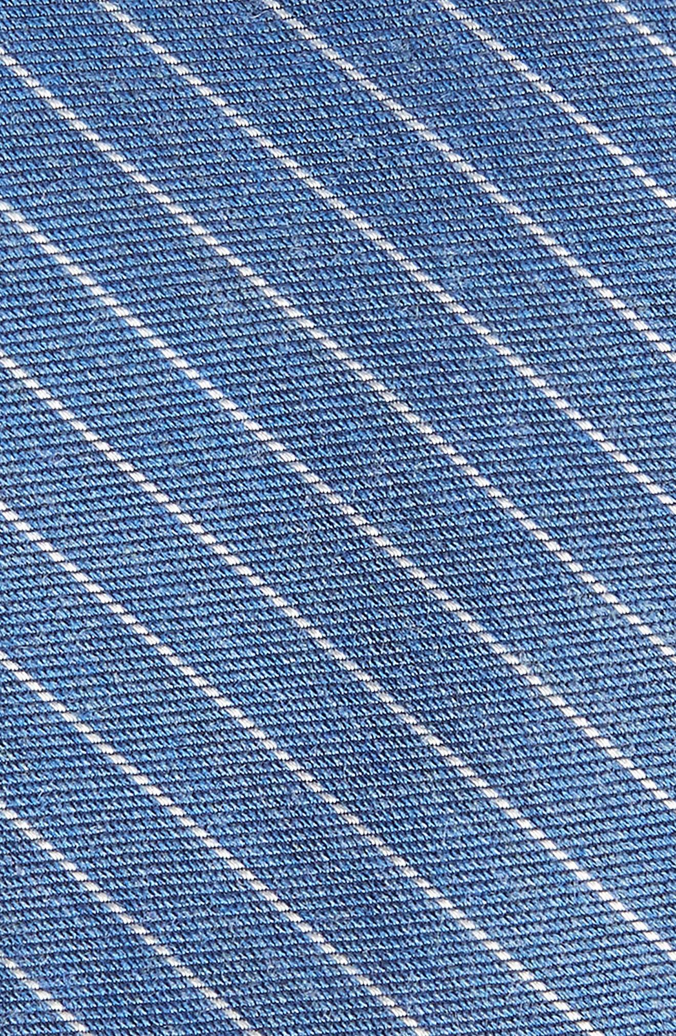 Stripe Silk Blend Skinny Tie,                             Alternate thumbnail 2, color,                             Sky Blue