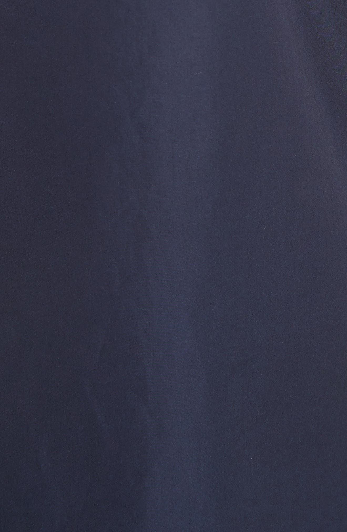 Ruffle Neck Poplin Dress,                             Alternate thumbnail 6, color,                             Marine