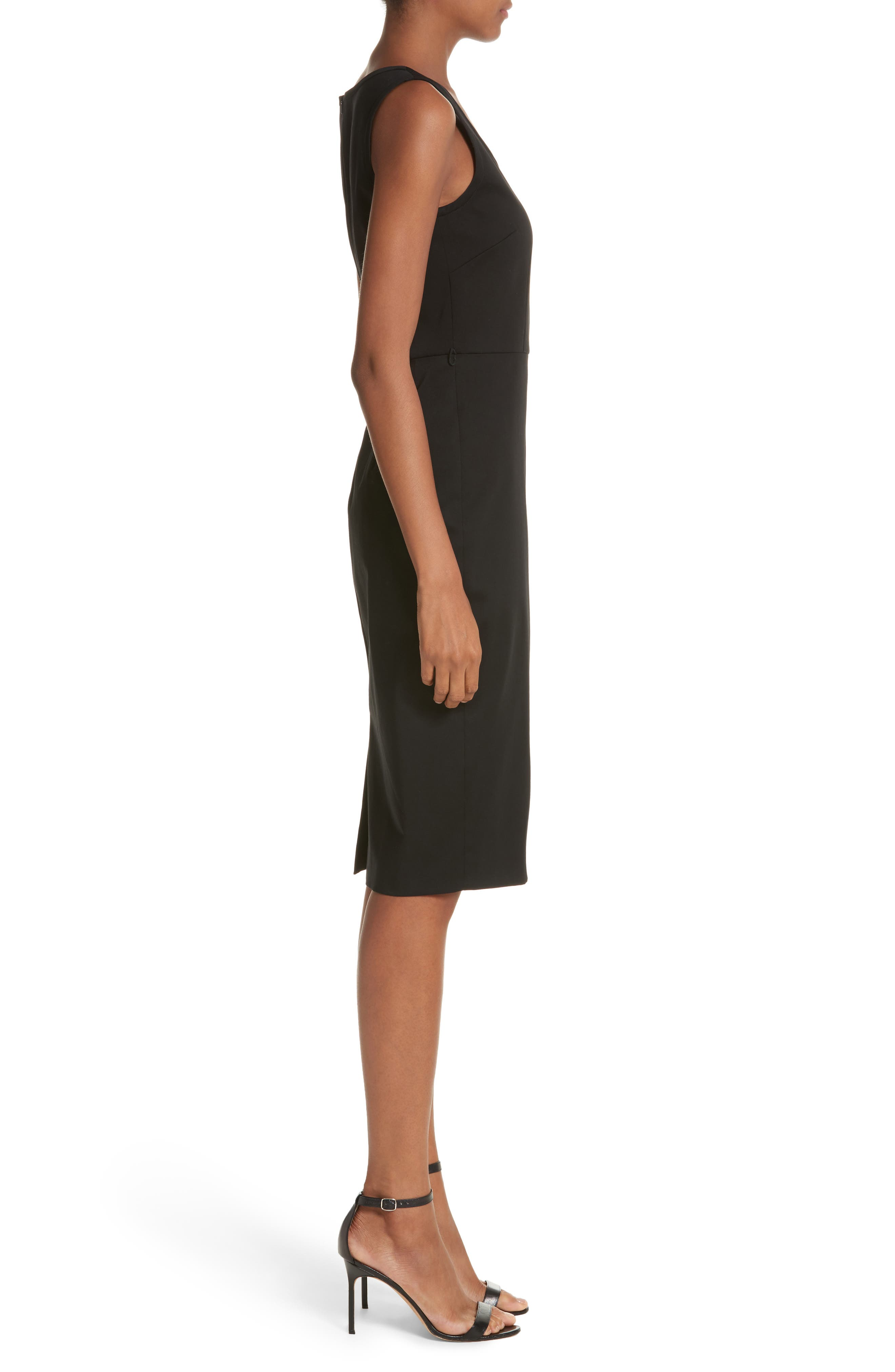 Segnale Sheath Dress,                             Alternate thumbnail 3, color,                             Black