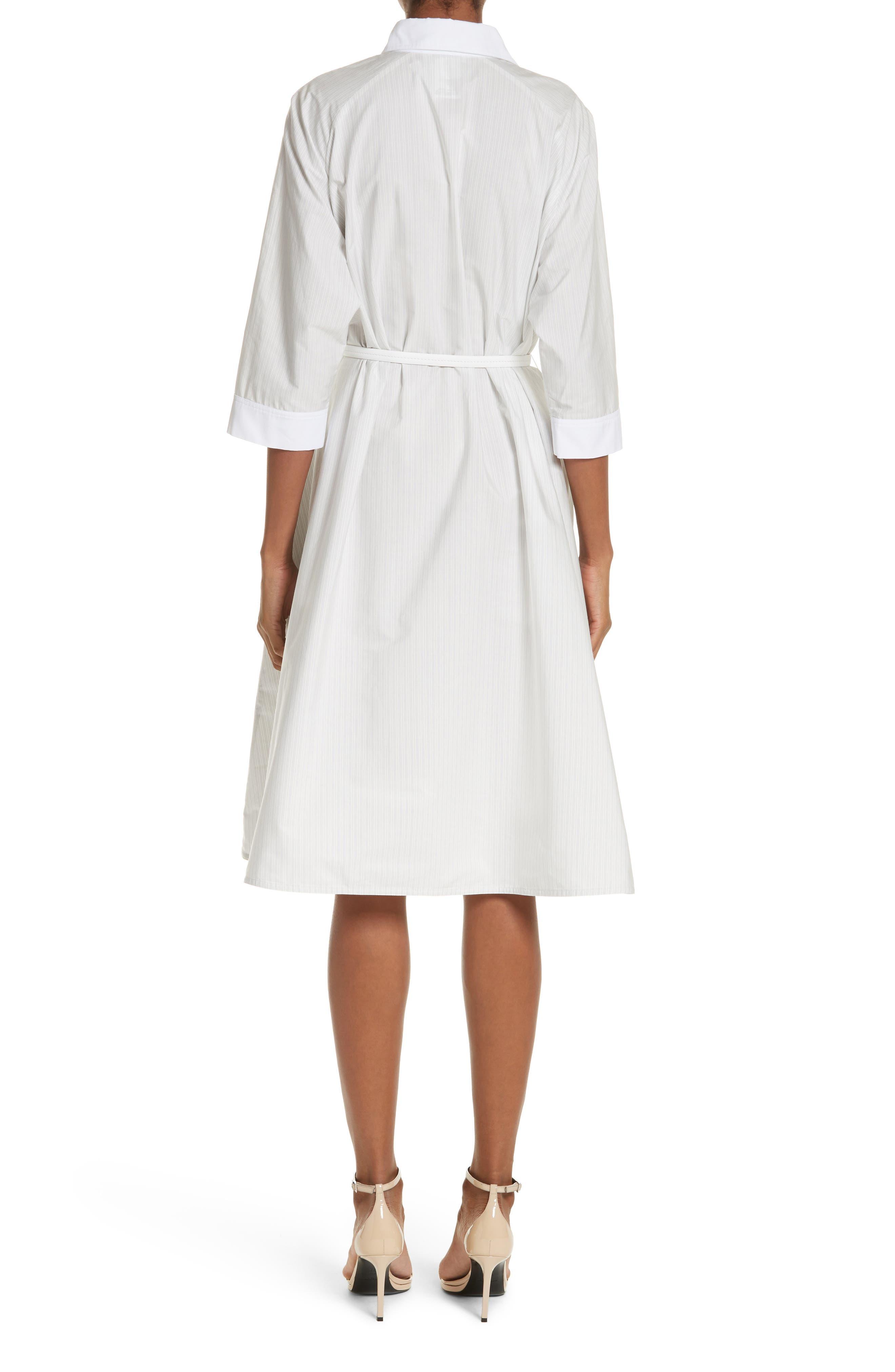Parola Cotton Shirtdress,                             Alternate thumbnail 2, color,                             Light Grey