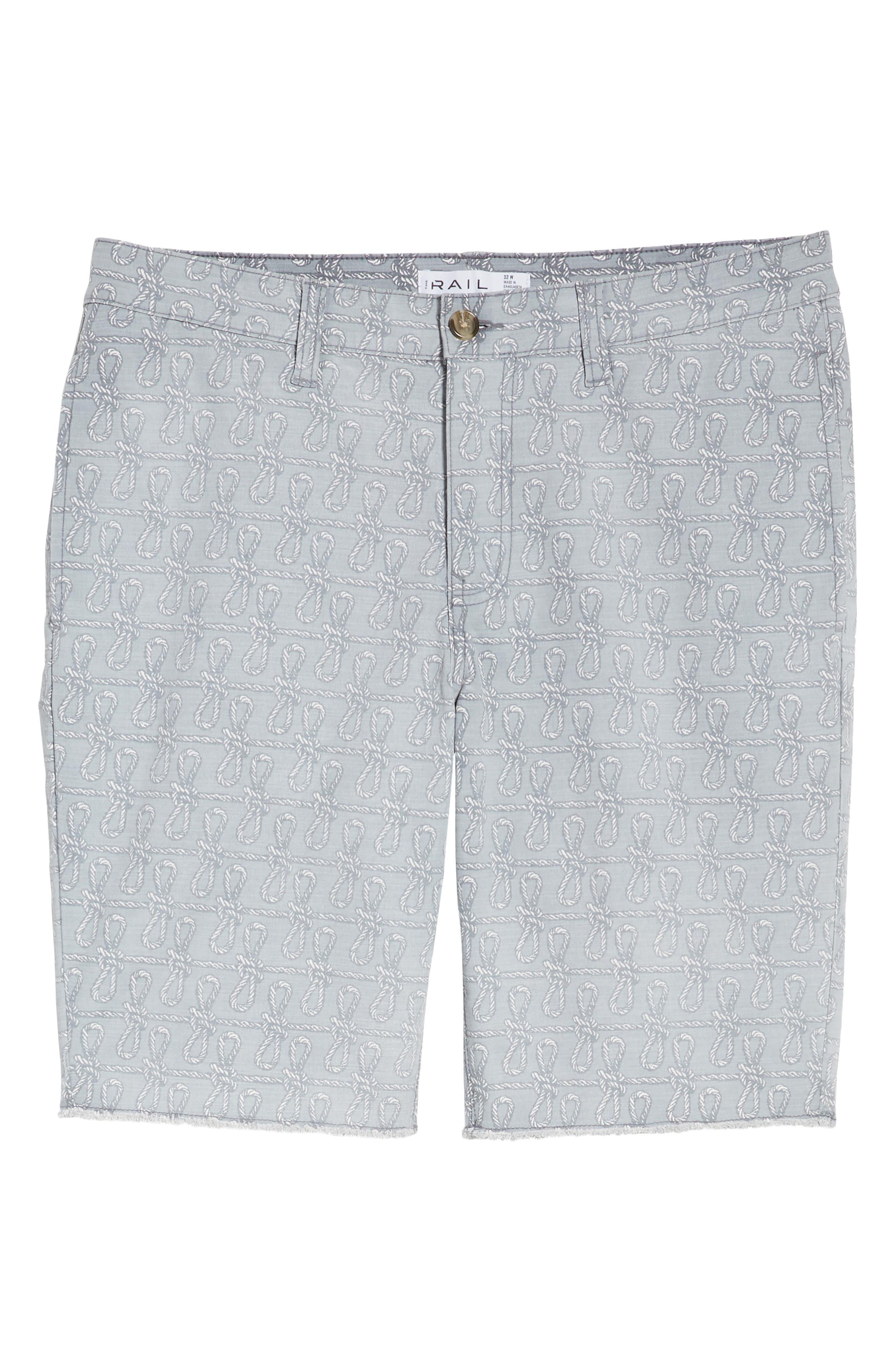 Print Frost Wash Shorts,                             Alternate thumbnail 6, color,                             Grey Rope Print