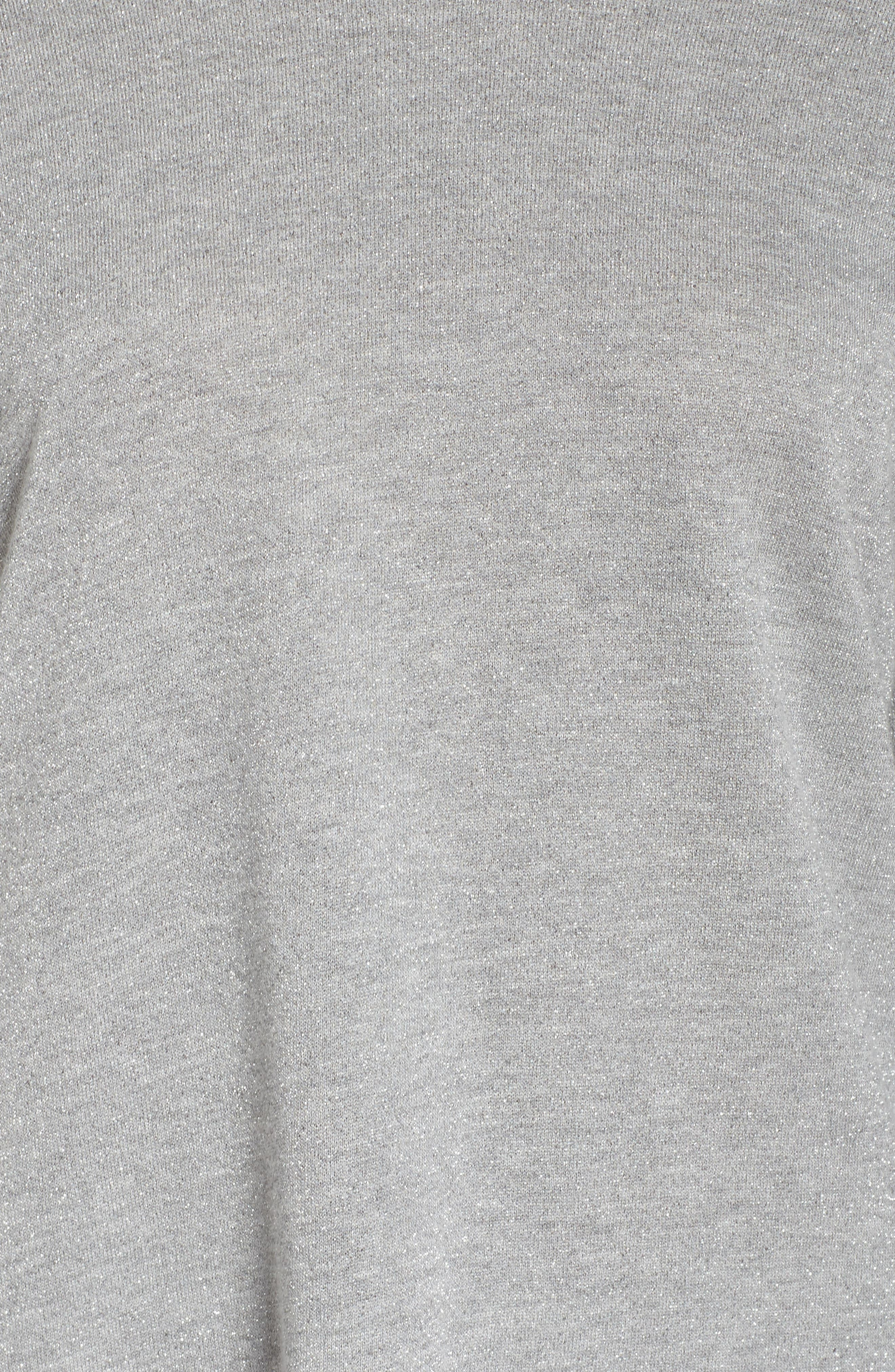 Louie Metallic High/Low Pullover,                             Alternate thumbnail 7, color,                             Heather Grey