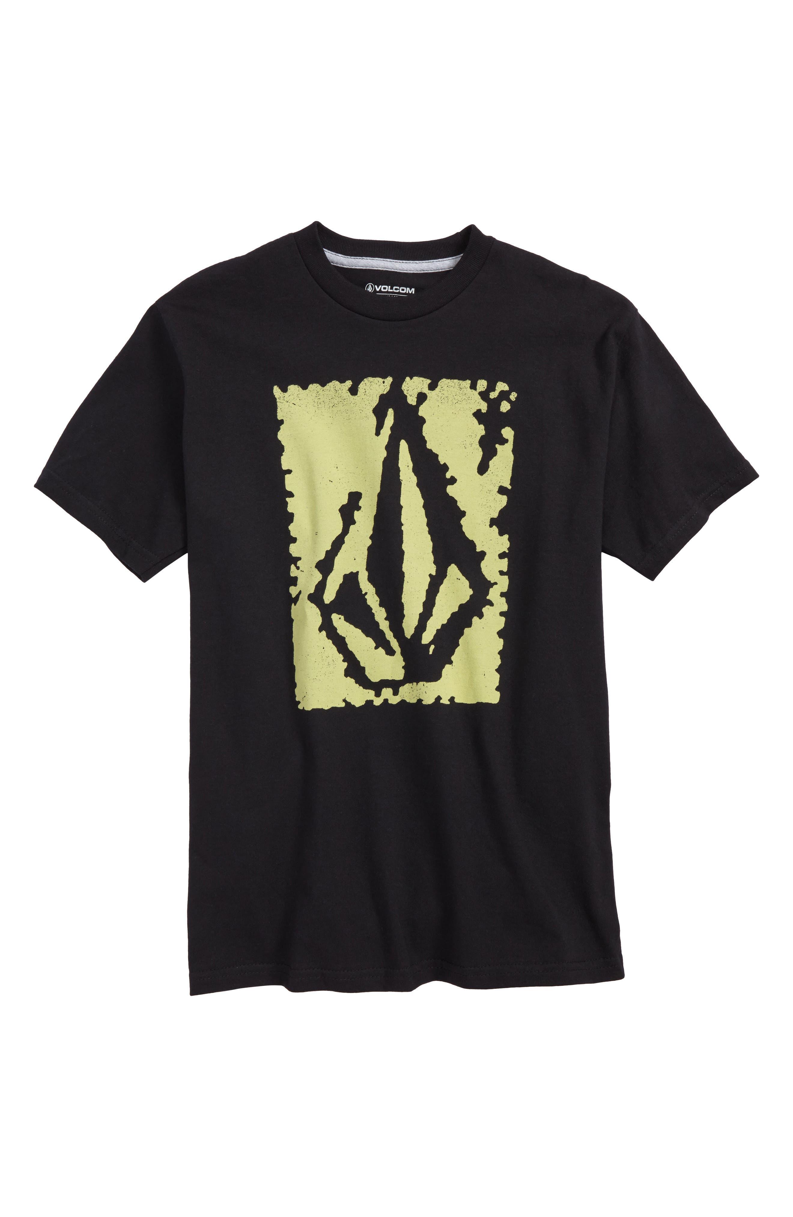 Pixel Stone T-Shirt,                             Main thumbnail 1, color,                             Black