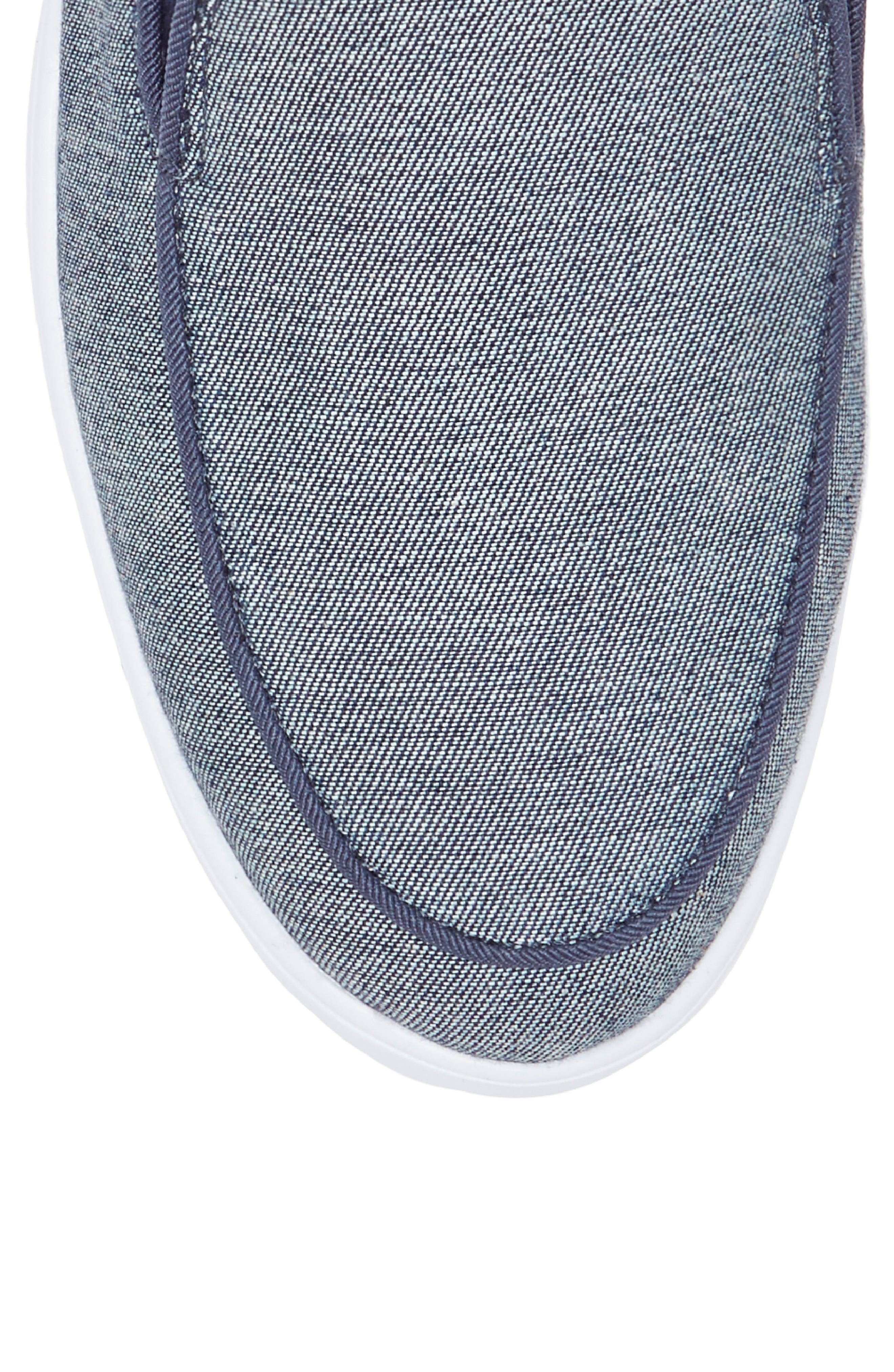 Antona Slip-On Sneaker,                             Alternate thumbnail 5, color,                             Blue Fabric