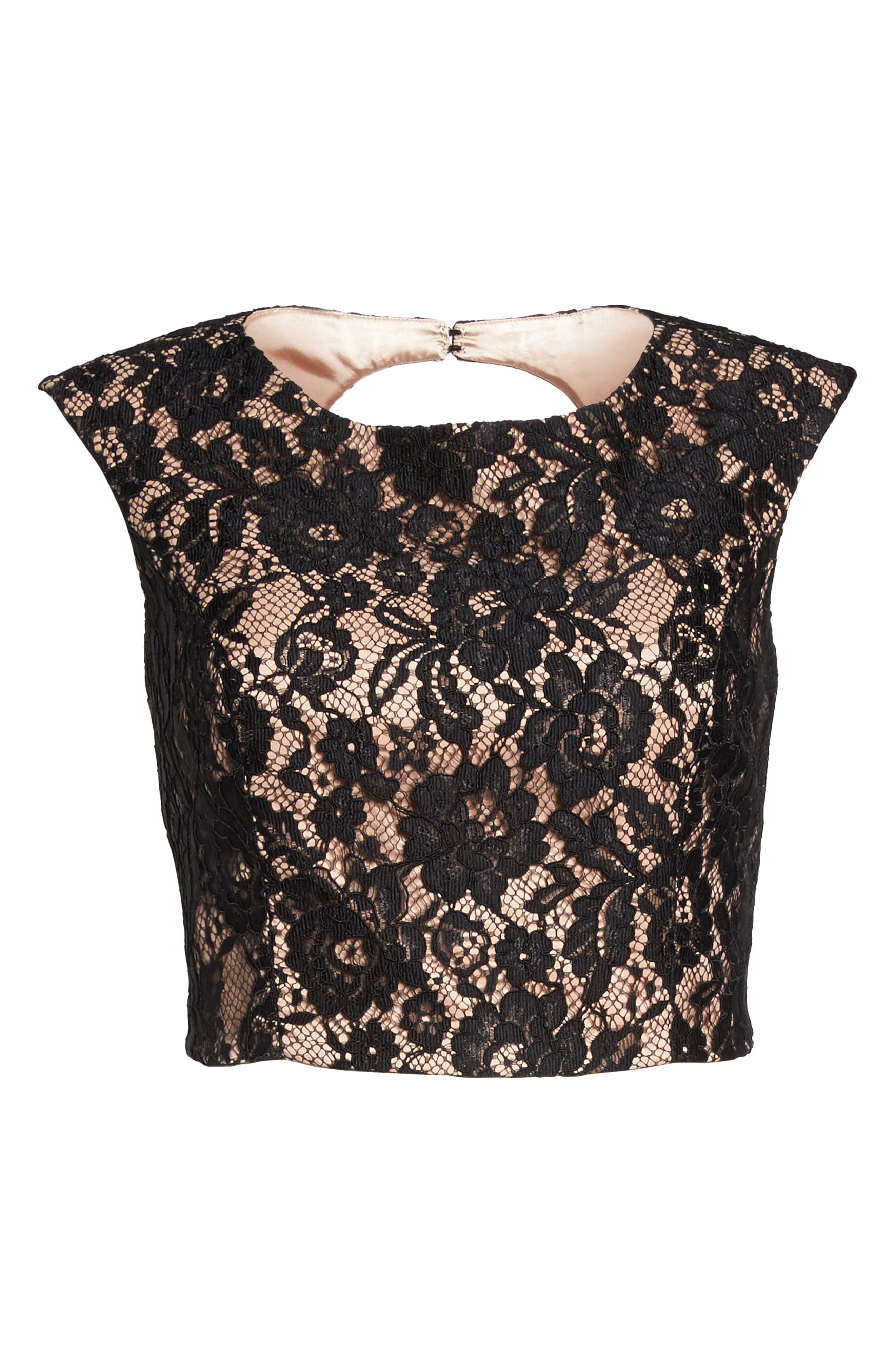 Alternate Image 7  - City Chic Decadent Lace Top (Plus Size)