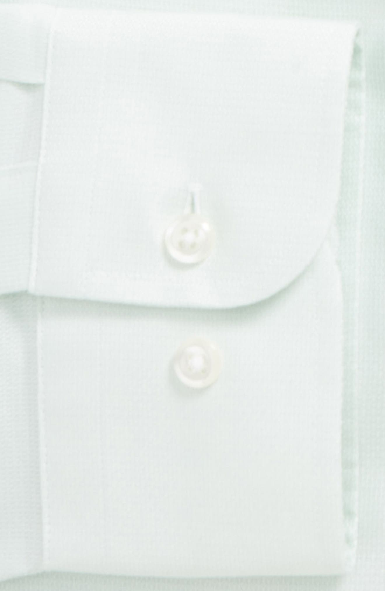 Trim Fit Solid Dress Shirt,                             Alternate thumbnail 5, color,                             Green Screen
