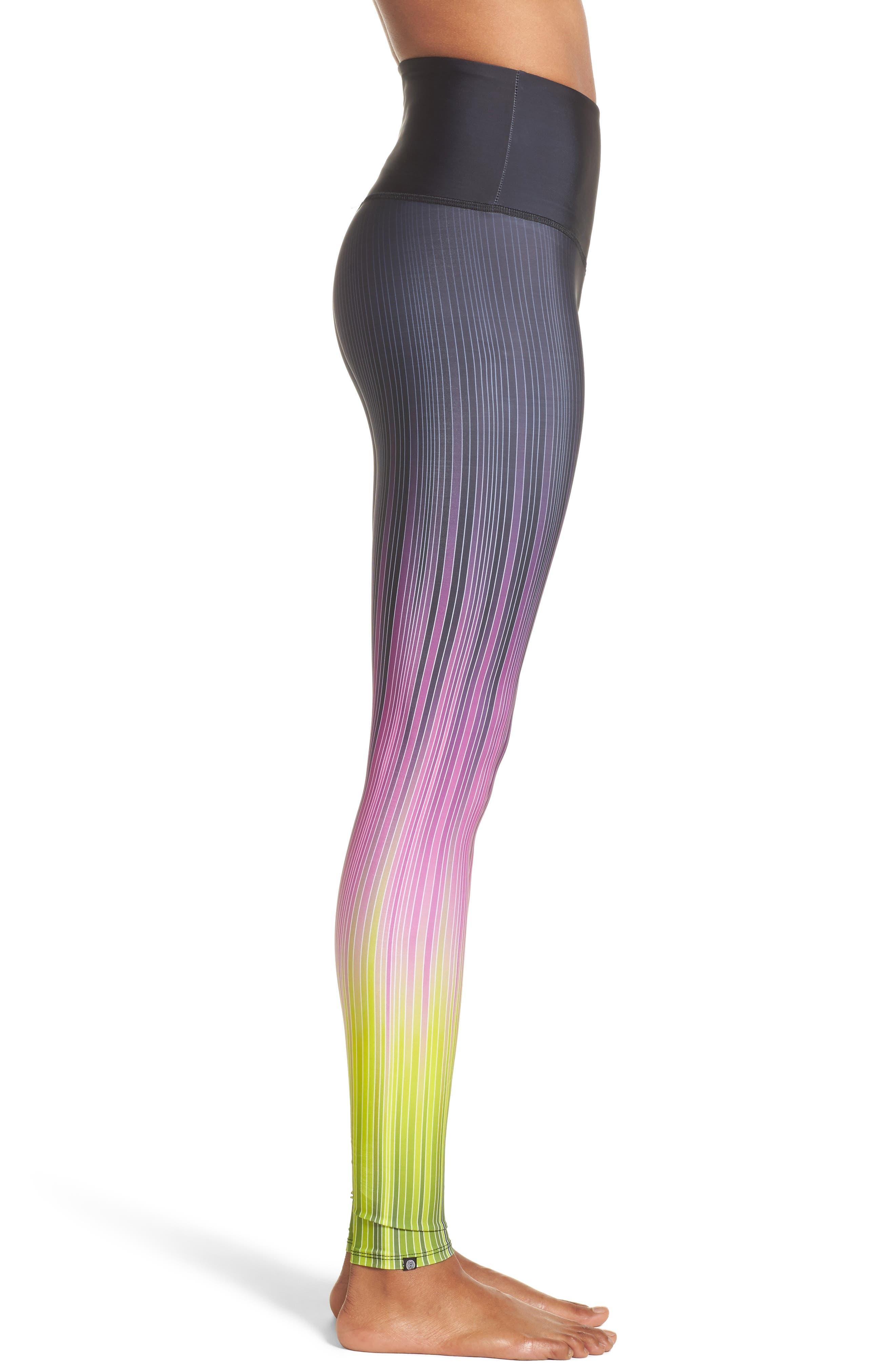 Graphic High Rise Leggings,                             Alternate thumbnail 6, color,                             Pinstripes