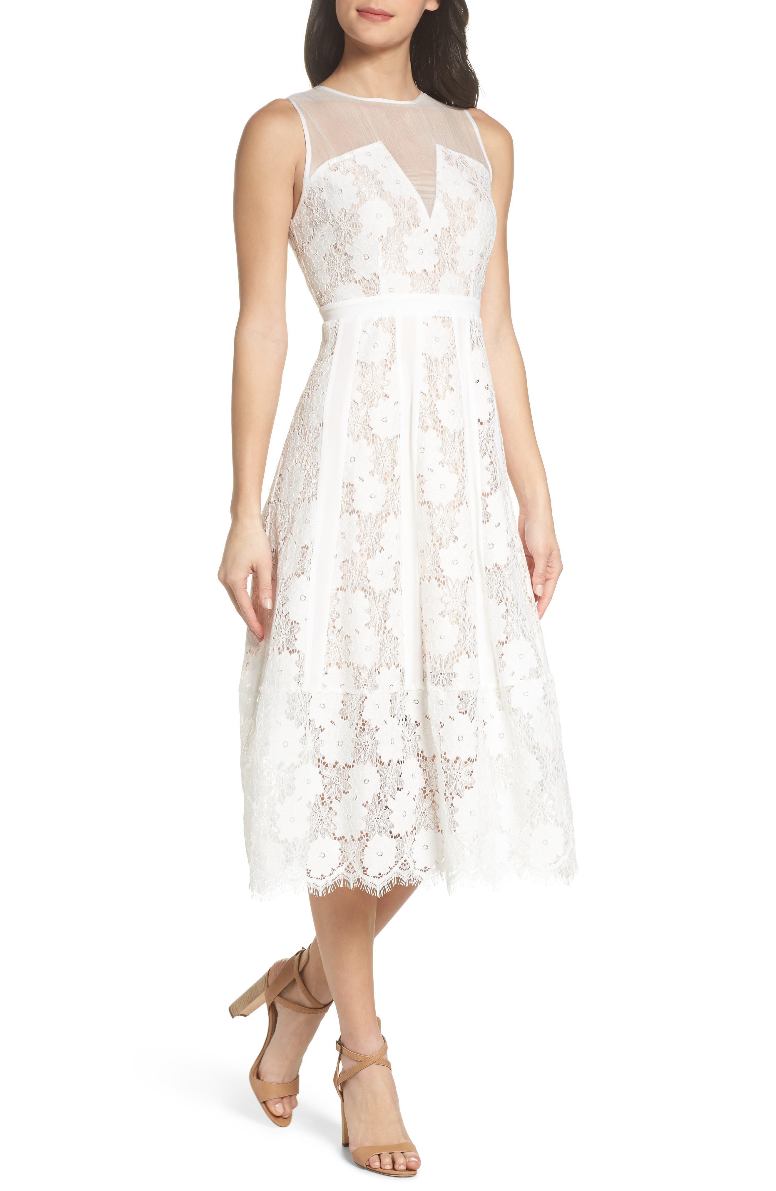 Alternate Image 1 Selected - Chelsea28 Lace Midi Dress