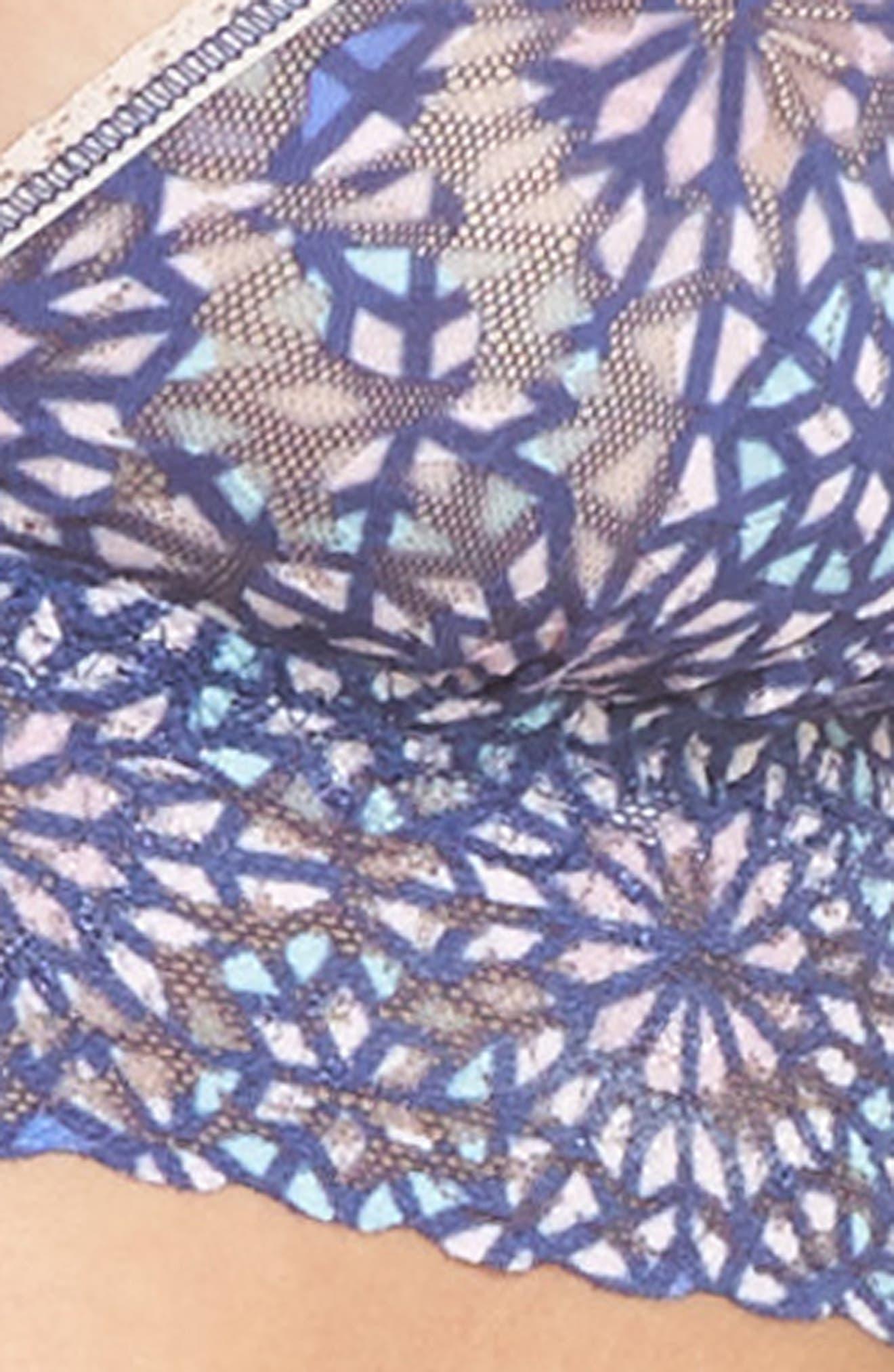 Maria Triangle Bralette,                             Alternate thumbnail 8, color,                             Blue Multi