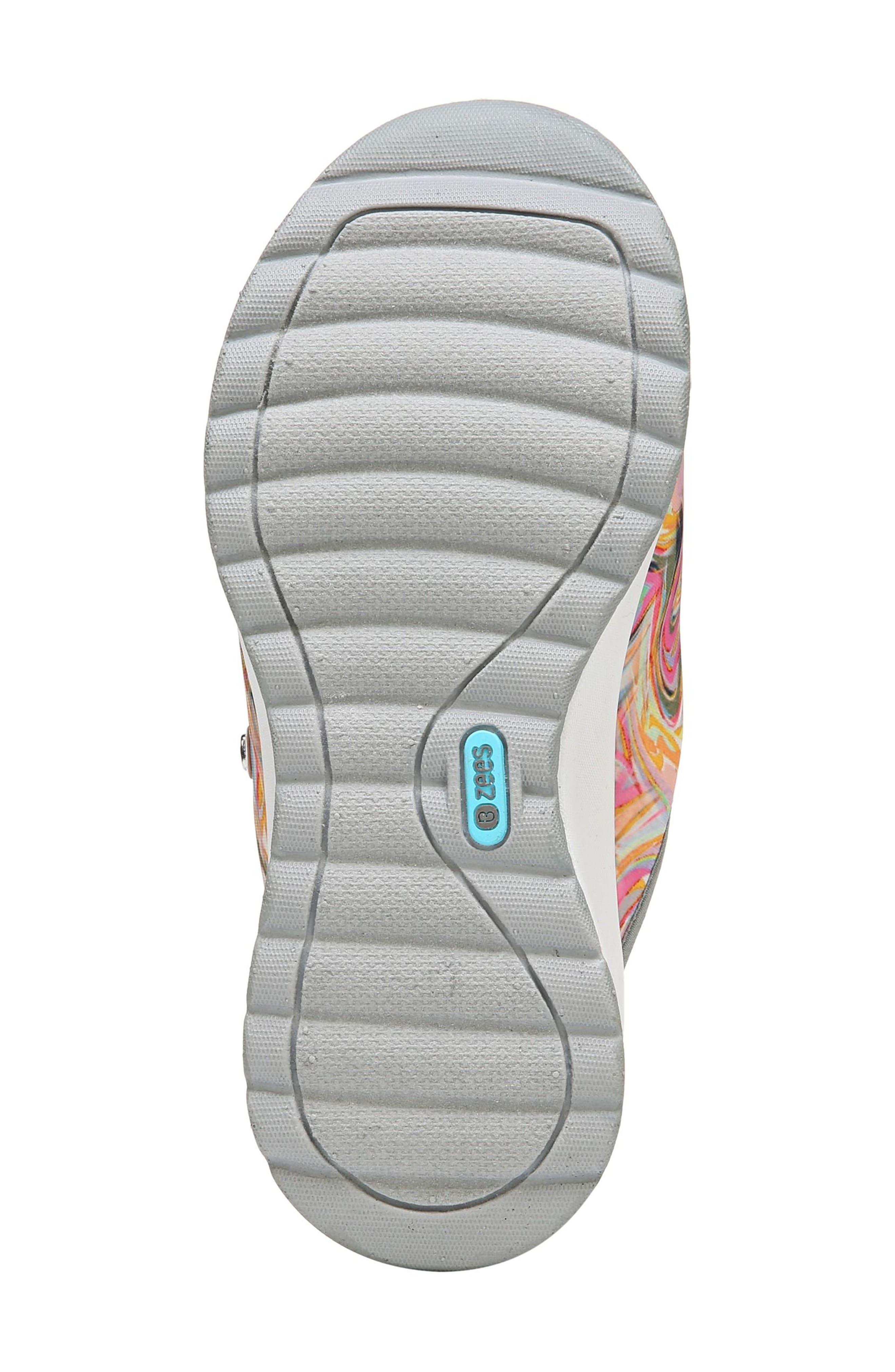 Galaxy Slide Sandal,                             Alternate thumbnail 6, color,                             Lava Fabric