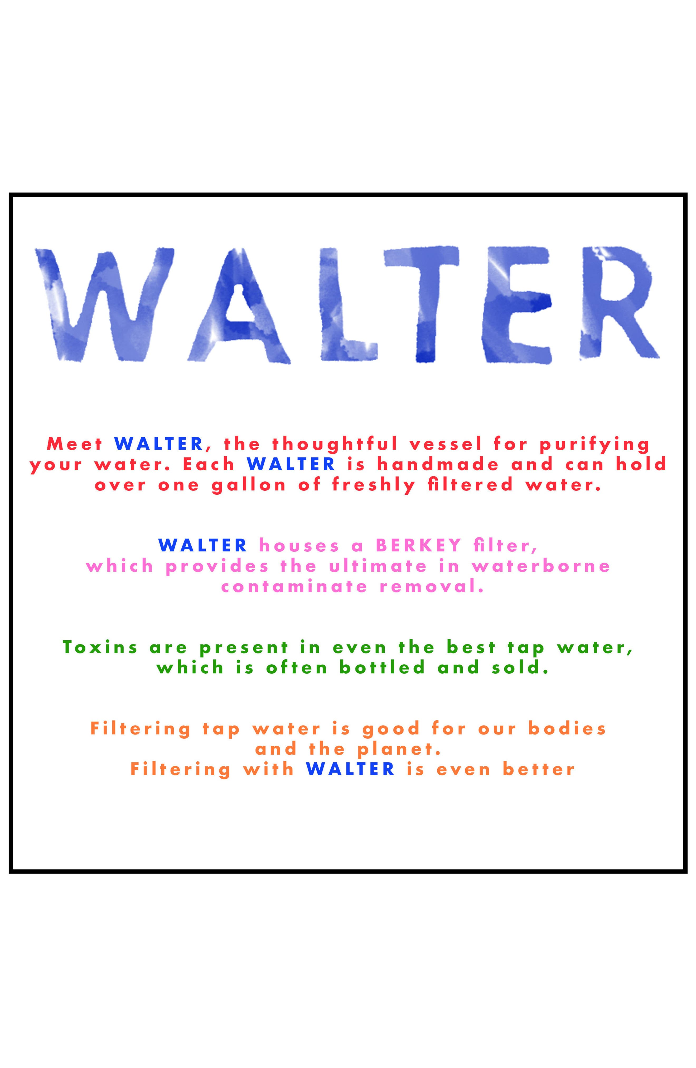 Wavy Porcelain Water Filter,                             Alternate thumbnail 2, color,