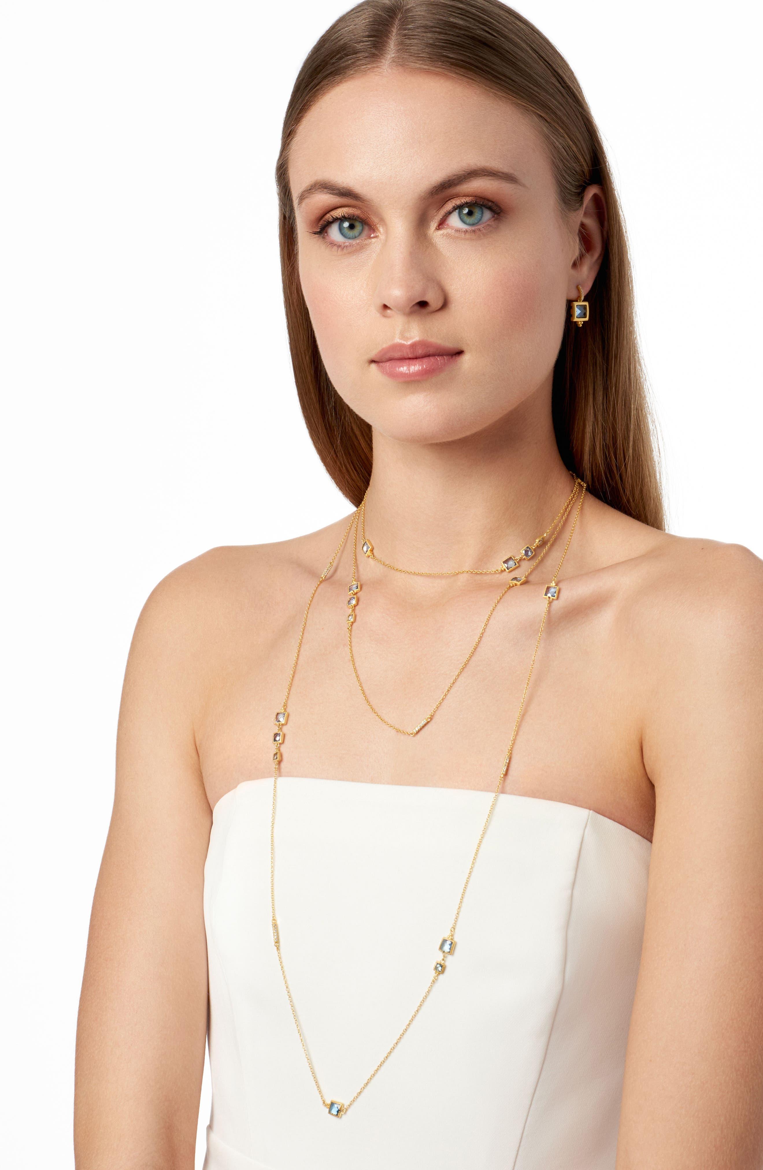 Alternate Image 2  - FREIDA ROTHMAN Ocean Azure Cubic Zirconia Stud Earrings