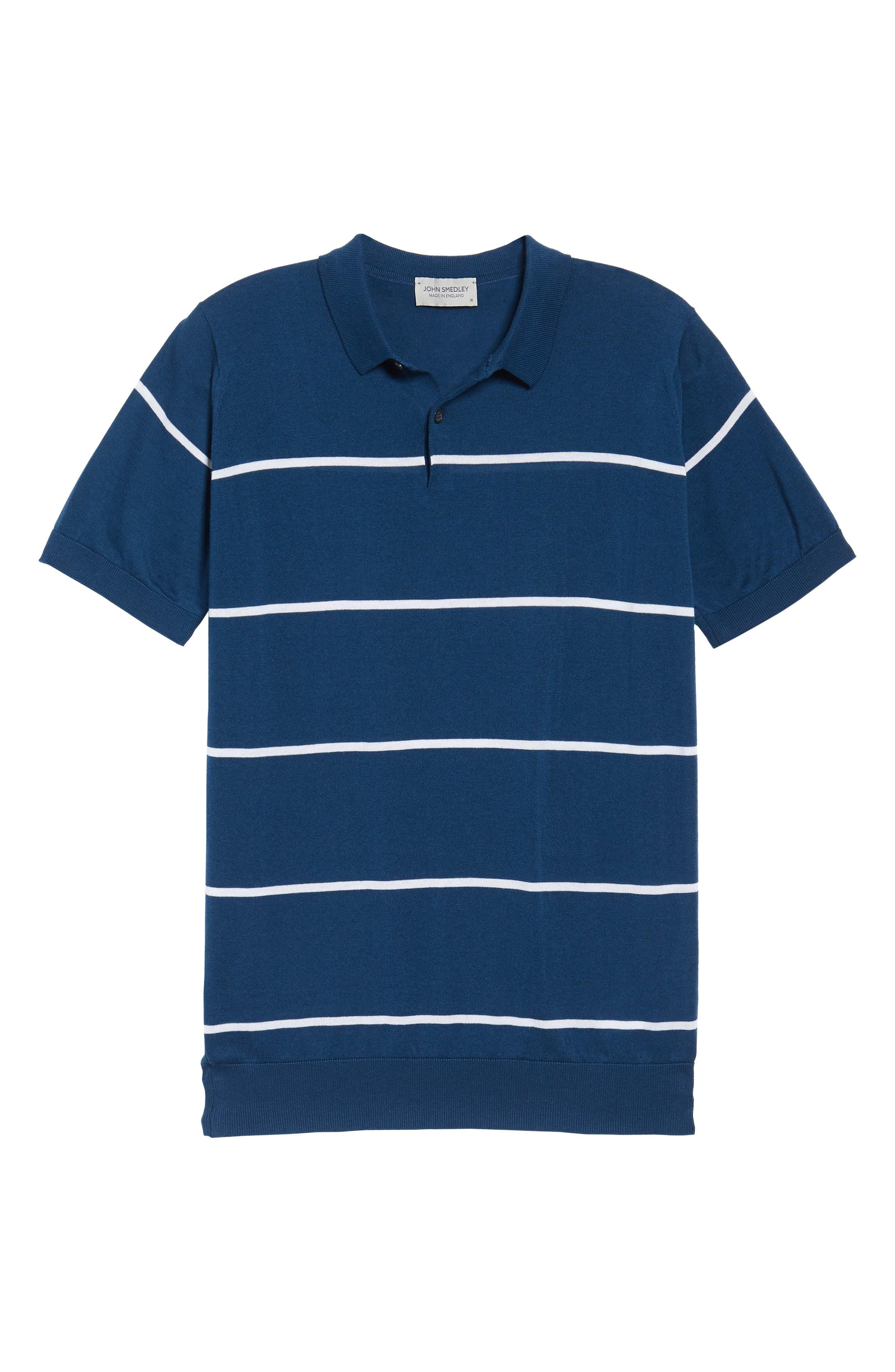 Alternate Image 6  - John Smedley Stripe Jersey Polo