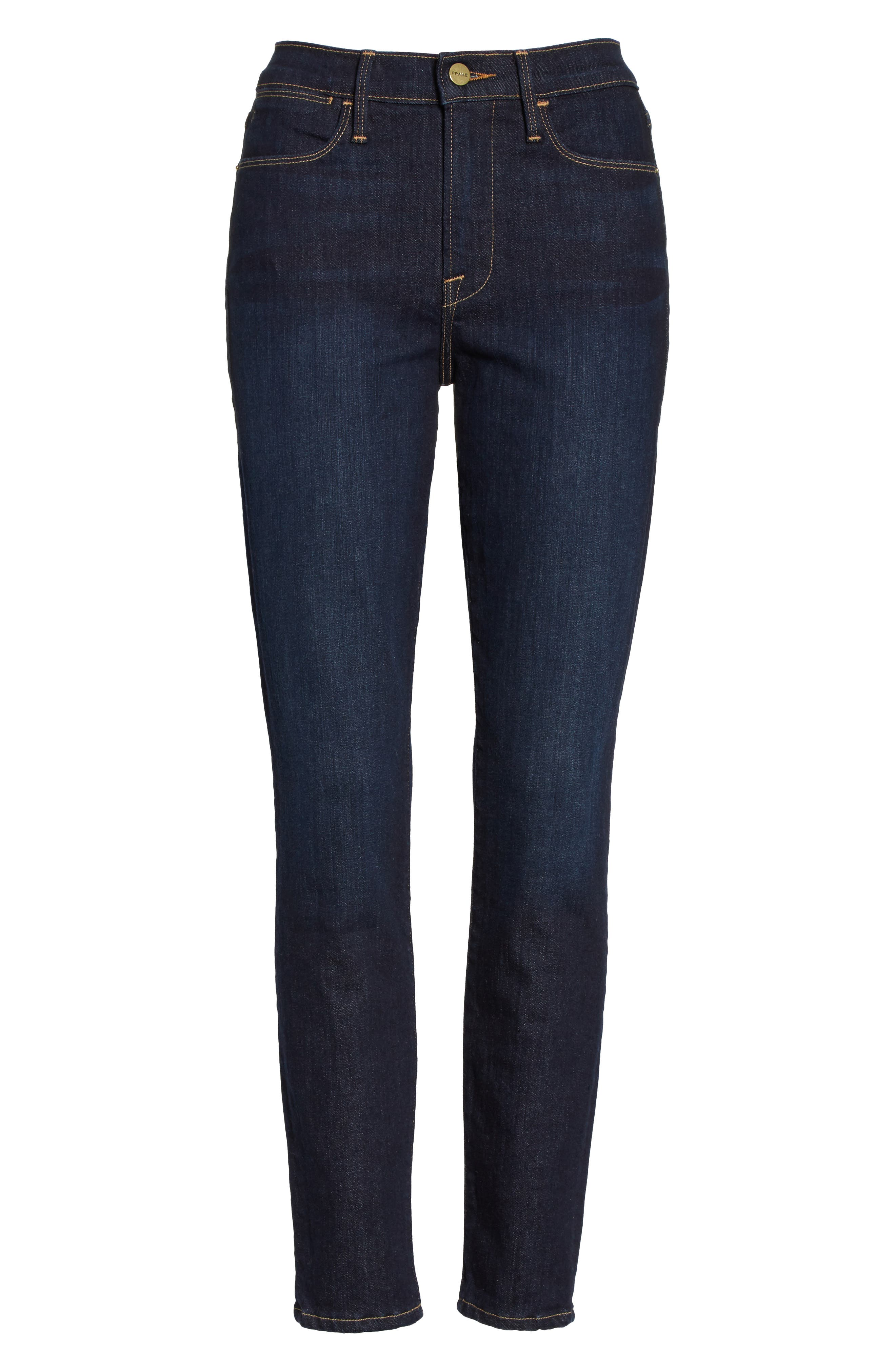 Le High Ankle Skinny Jeans,                             Alternate thumbnail 6, color,                             Dame