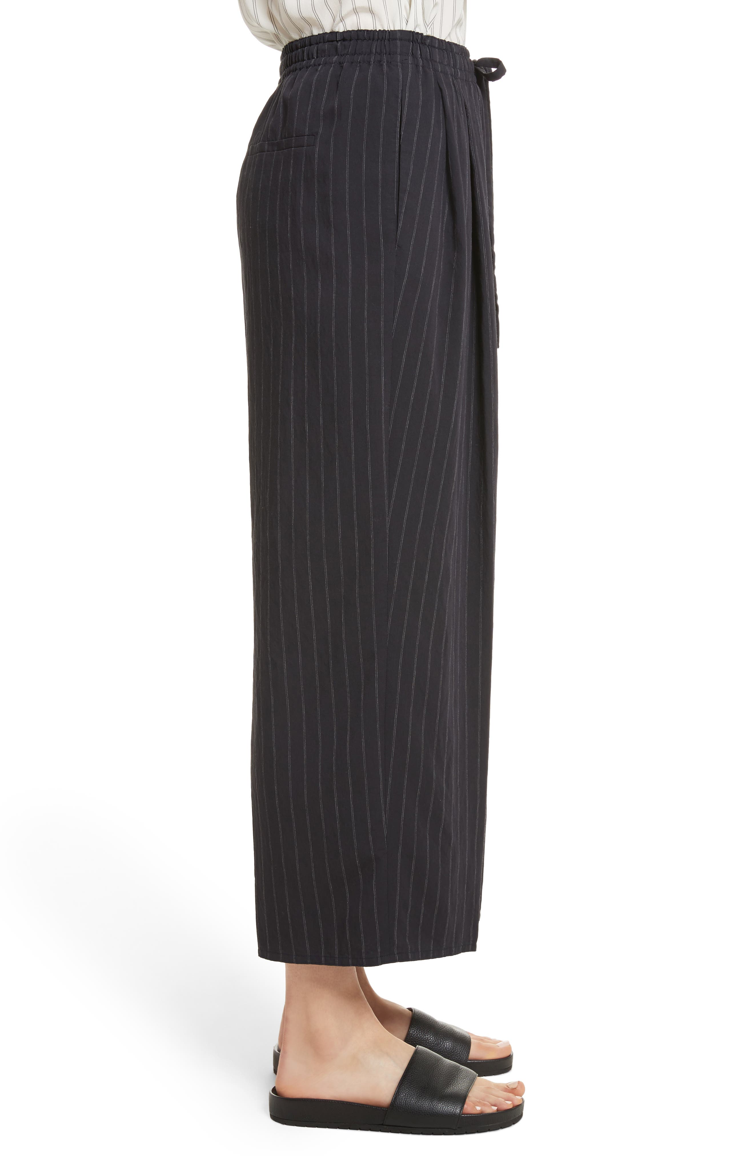 Alternate Image 3  - Vince Striped Drawstring Cropped Pants