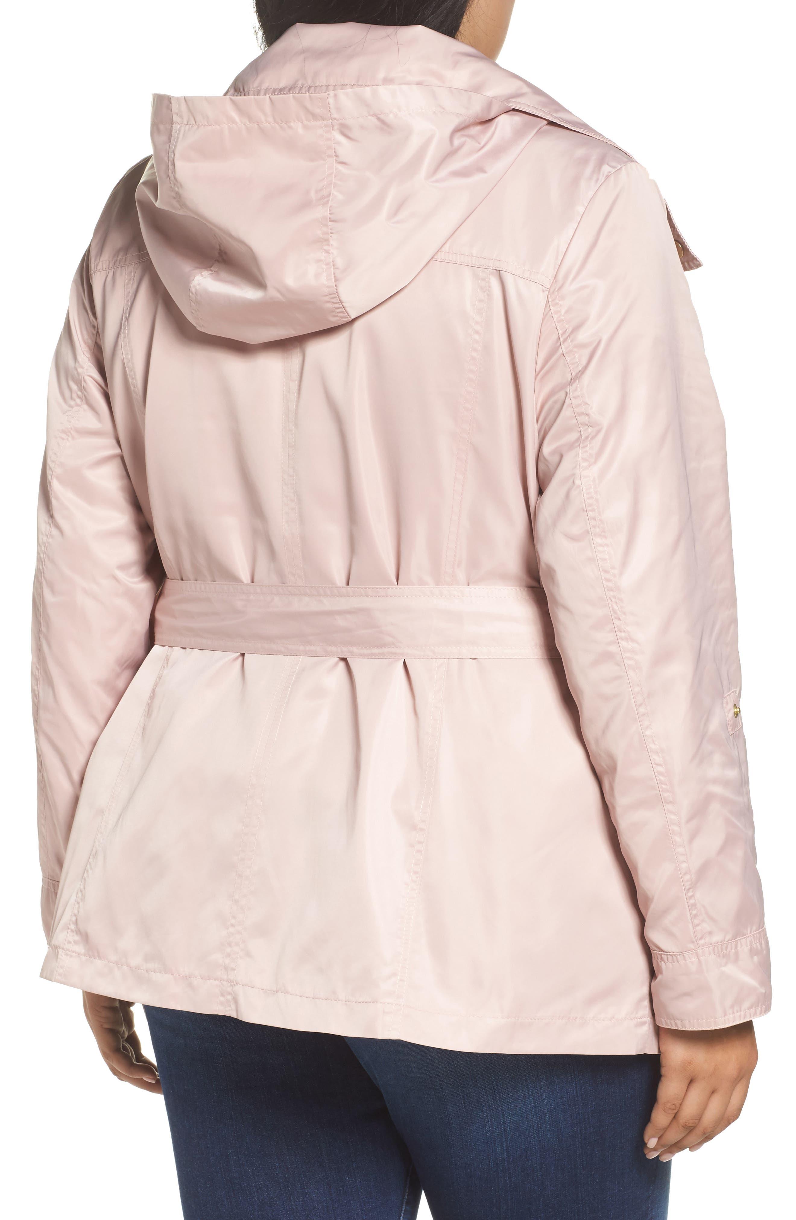 Alternate Image 2  - Halogen® Belted Lightweight Jacket (Plus Size)