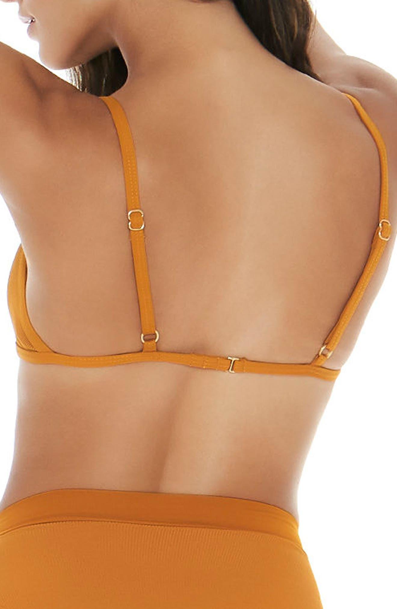 Gemma Bikini Top,                             Alternate thumbnail 2, color,                             Inka Gold