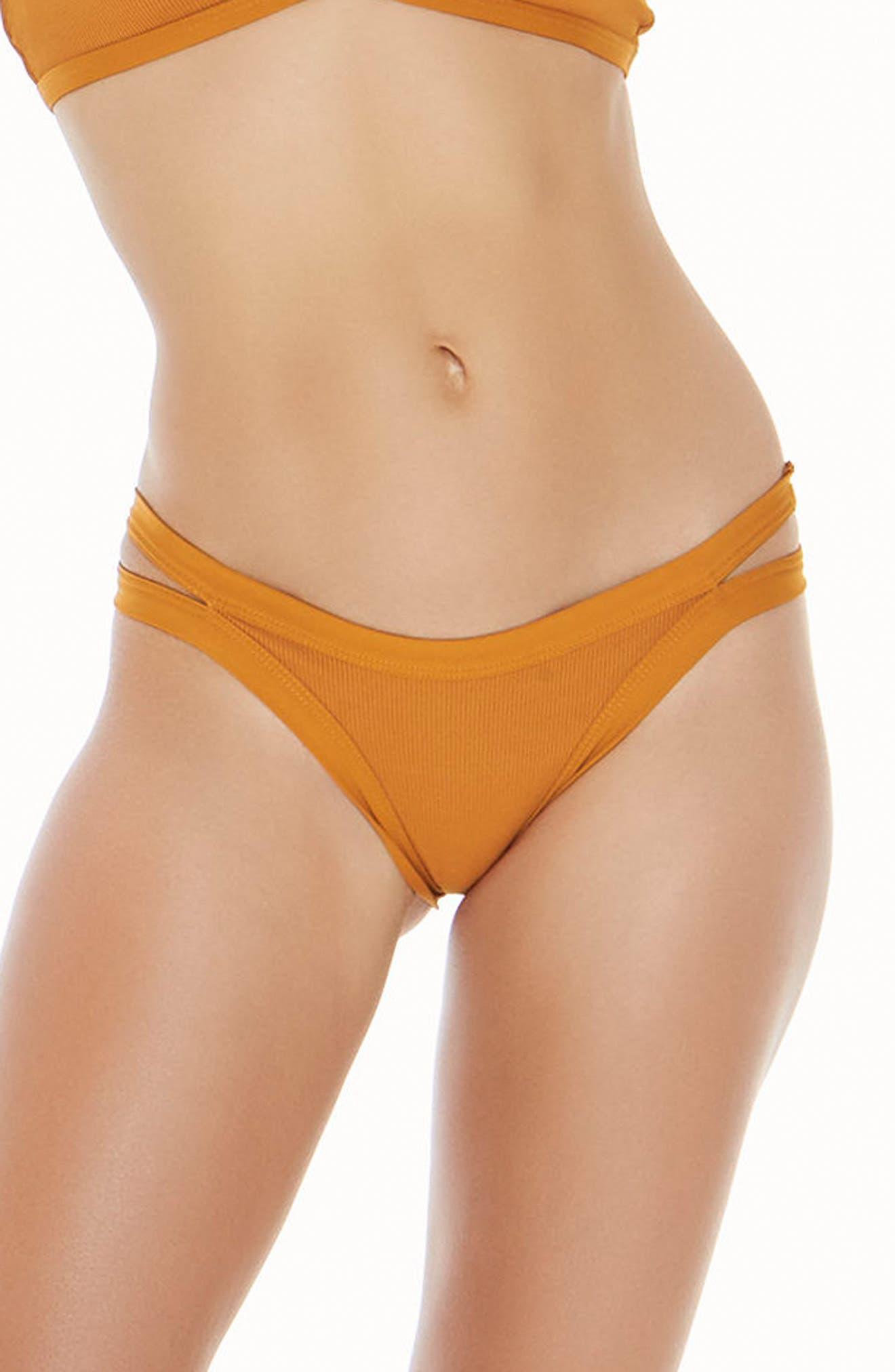 Ridin' High Charlie Classic Bikini Bottoms,                         Main,                         color, Inka Gold