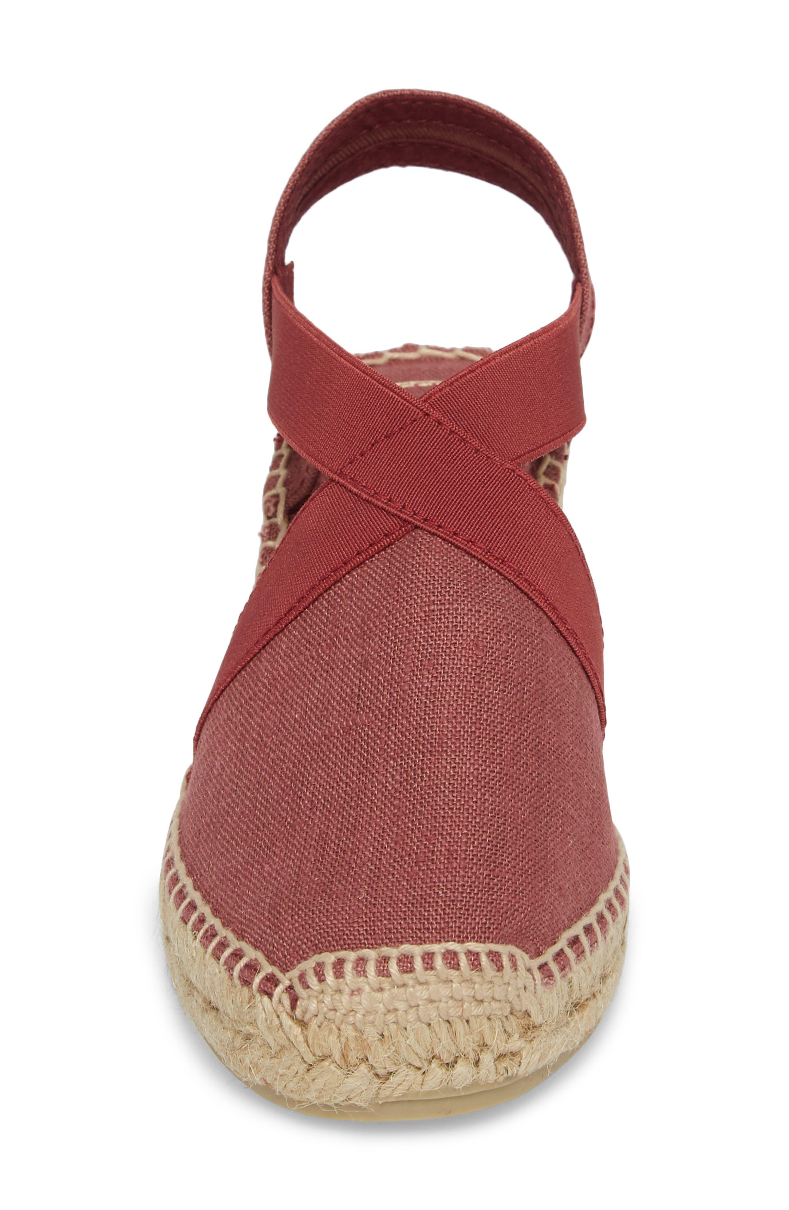 'Ter' Slingback Espadrille Sandal,                             Alternate thumbnail 4, color,                             Bru Fabric