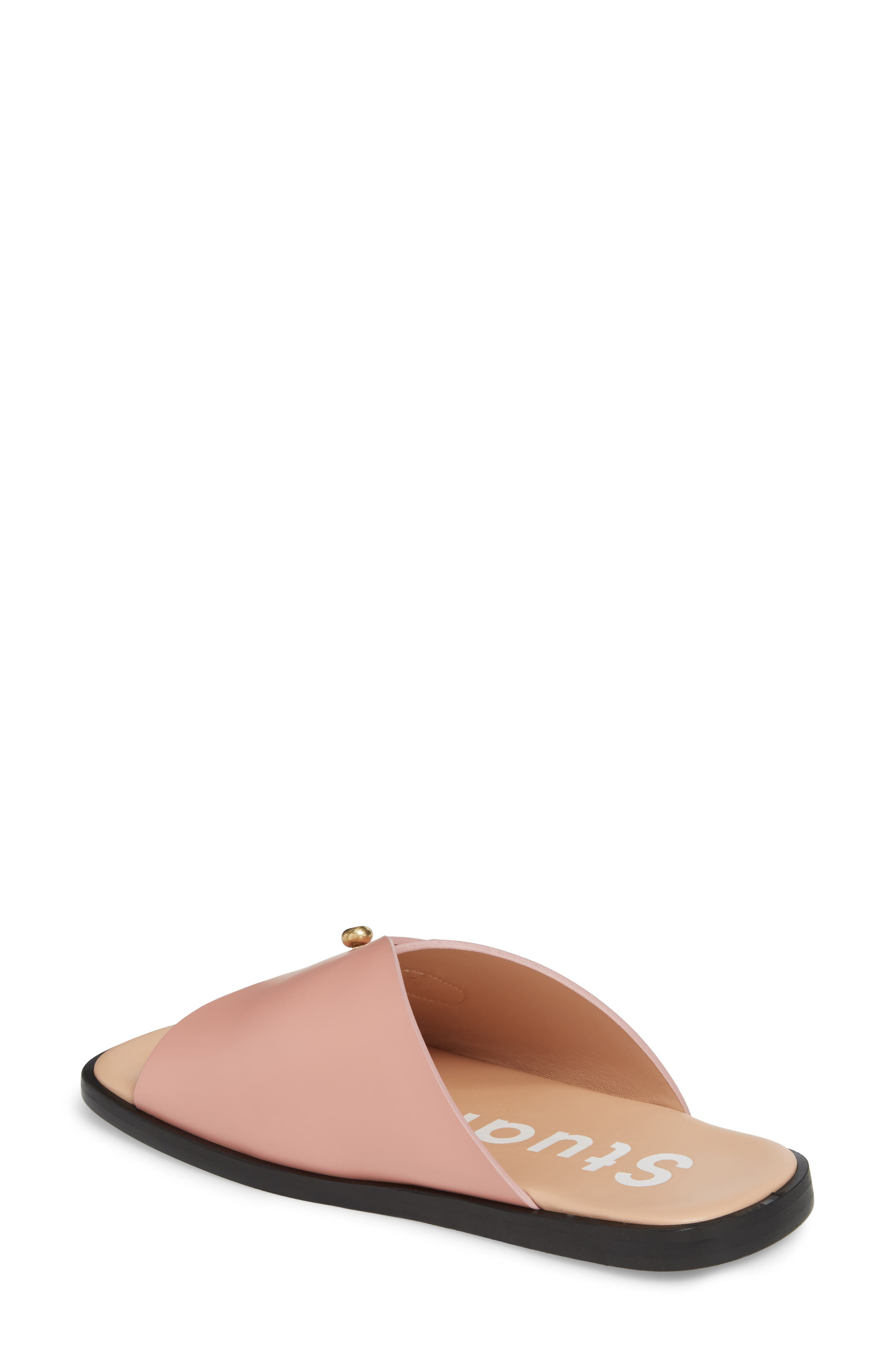 Jilly Studded Slide Sandal,                             Alternate thumbnail 2, color,                             Pink