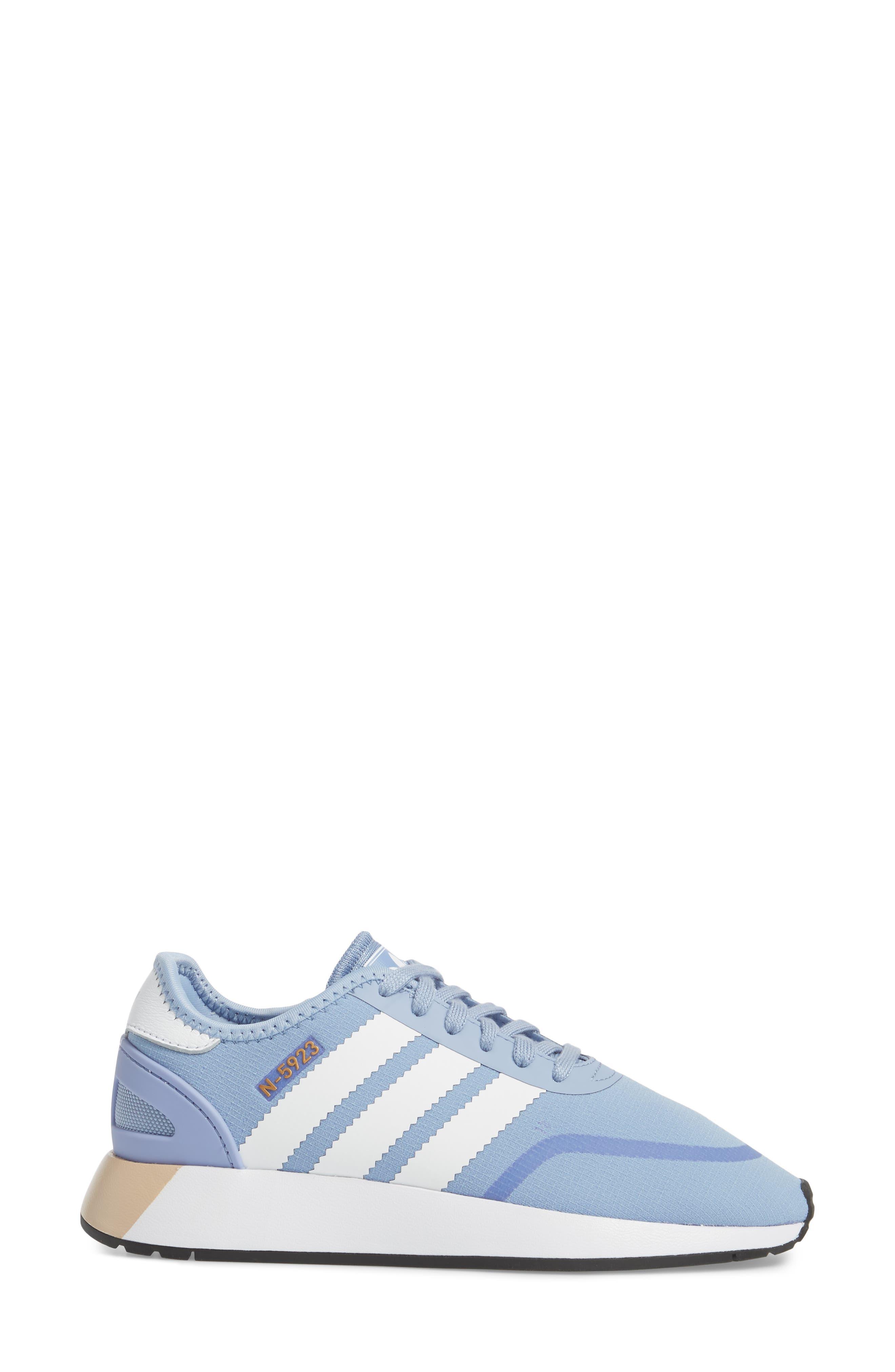 I-5923 Sneaker,                             Alternate thumbnail 3, color,                             Chalk Blue/ White/ White