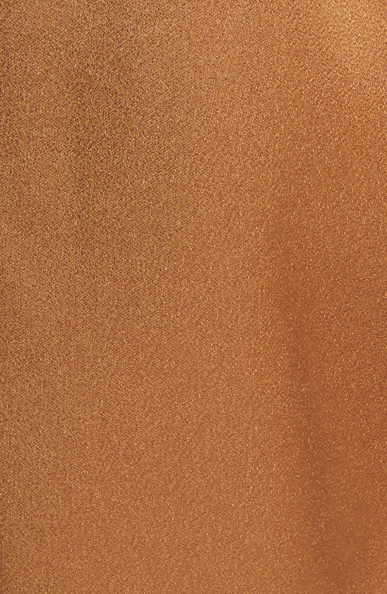Deliah Paperbag Waist Shorts,                             Alternate thumbnail 5, color,                             Caramel