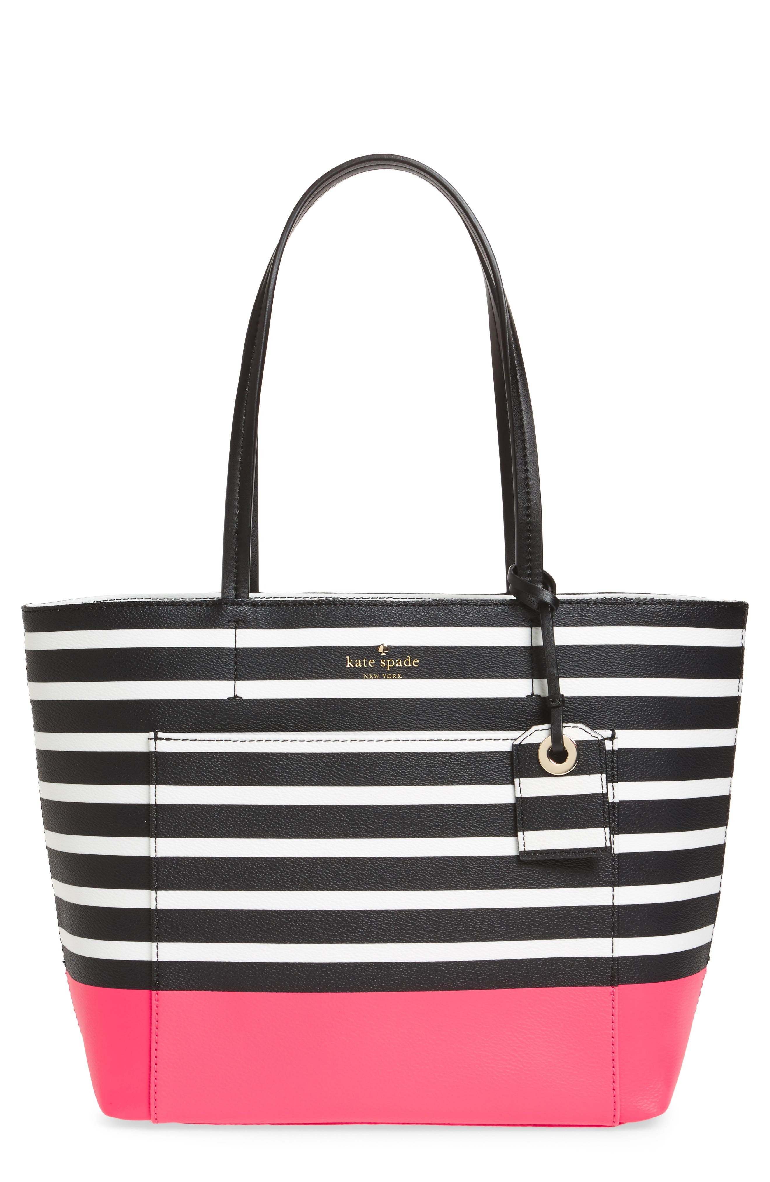 Main Image - kate spade new york hyde lane dipped stripe - small riley tote