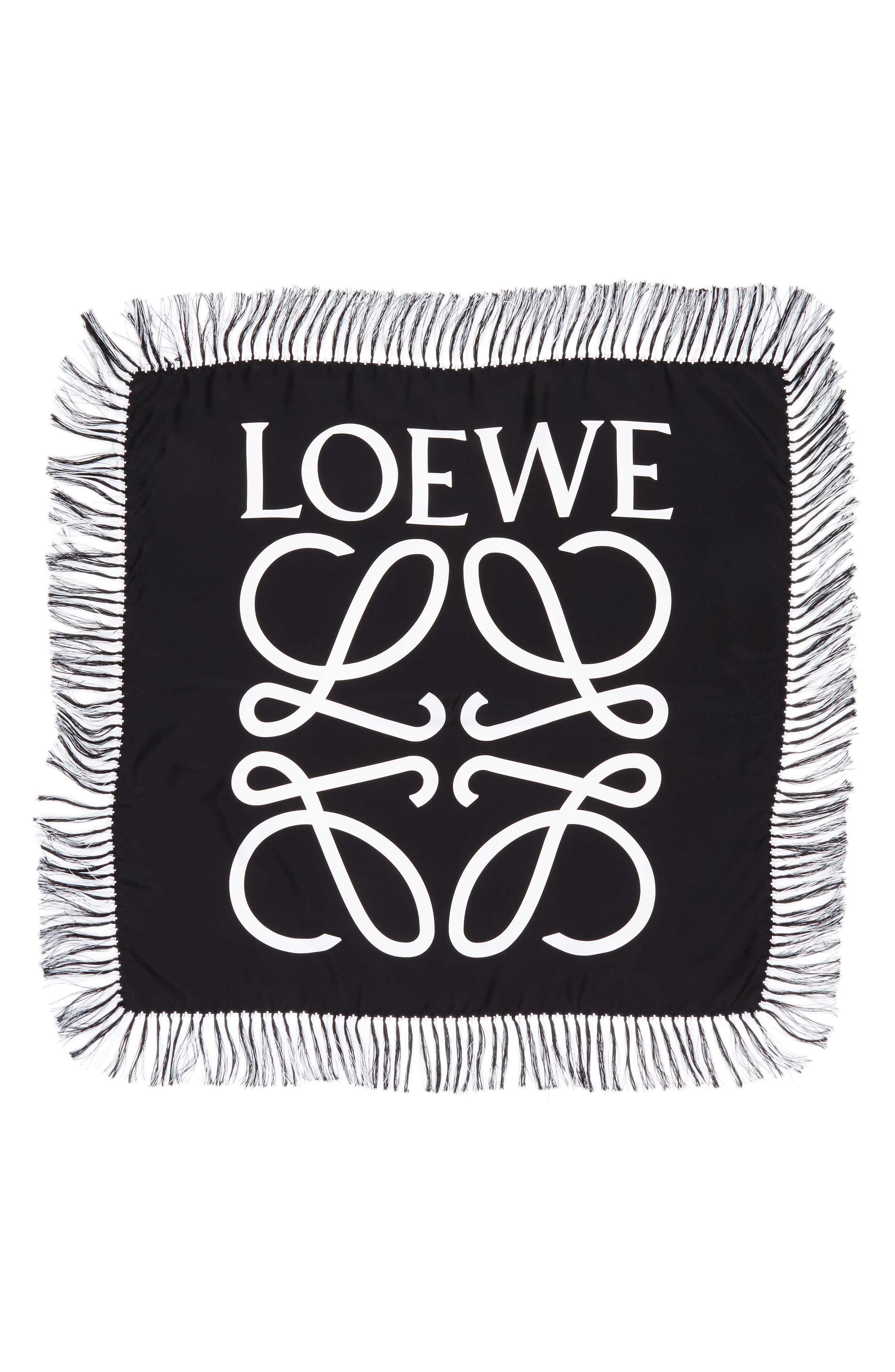 Loewe Anagram Silk Scarf