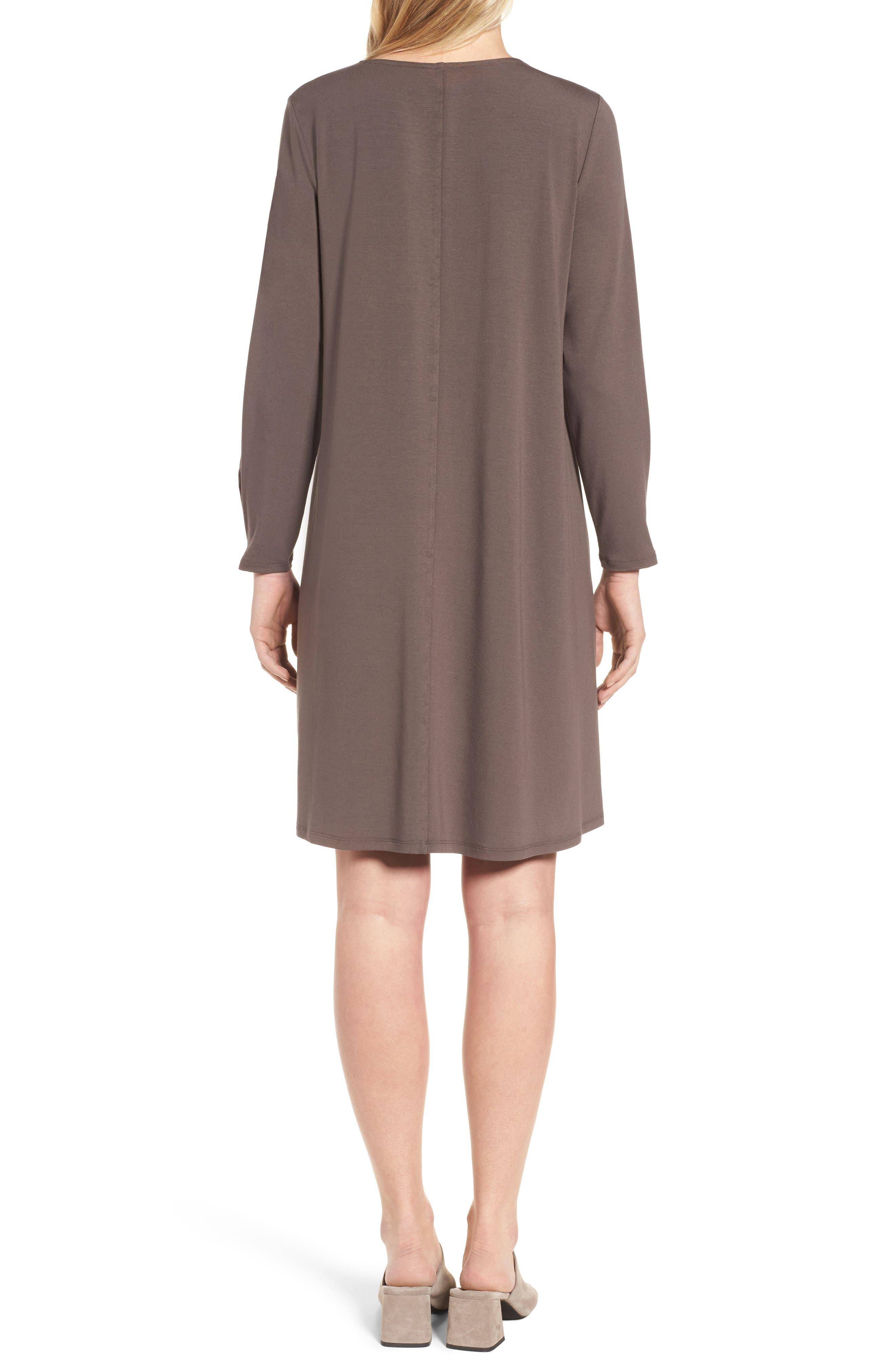 Jersey Shift Dress,                             Alternate thumbnail 2, color,                             Rye