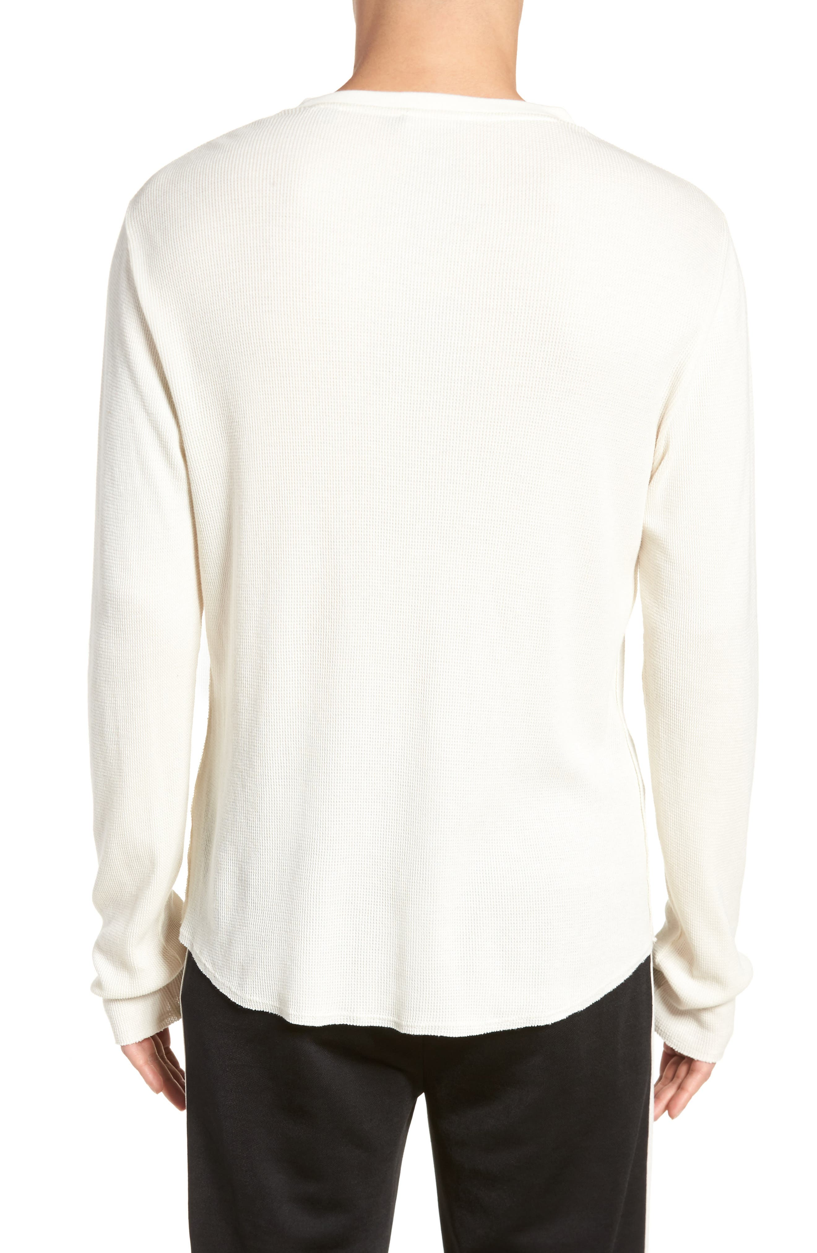 Thermal Knit Long Sleeve Henley T-Shirt,                             Alternate thumbnail 2, color,                             Off White