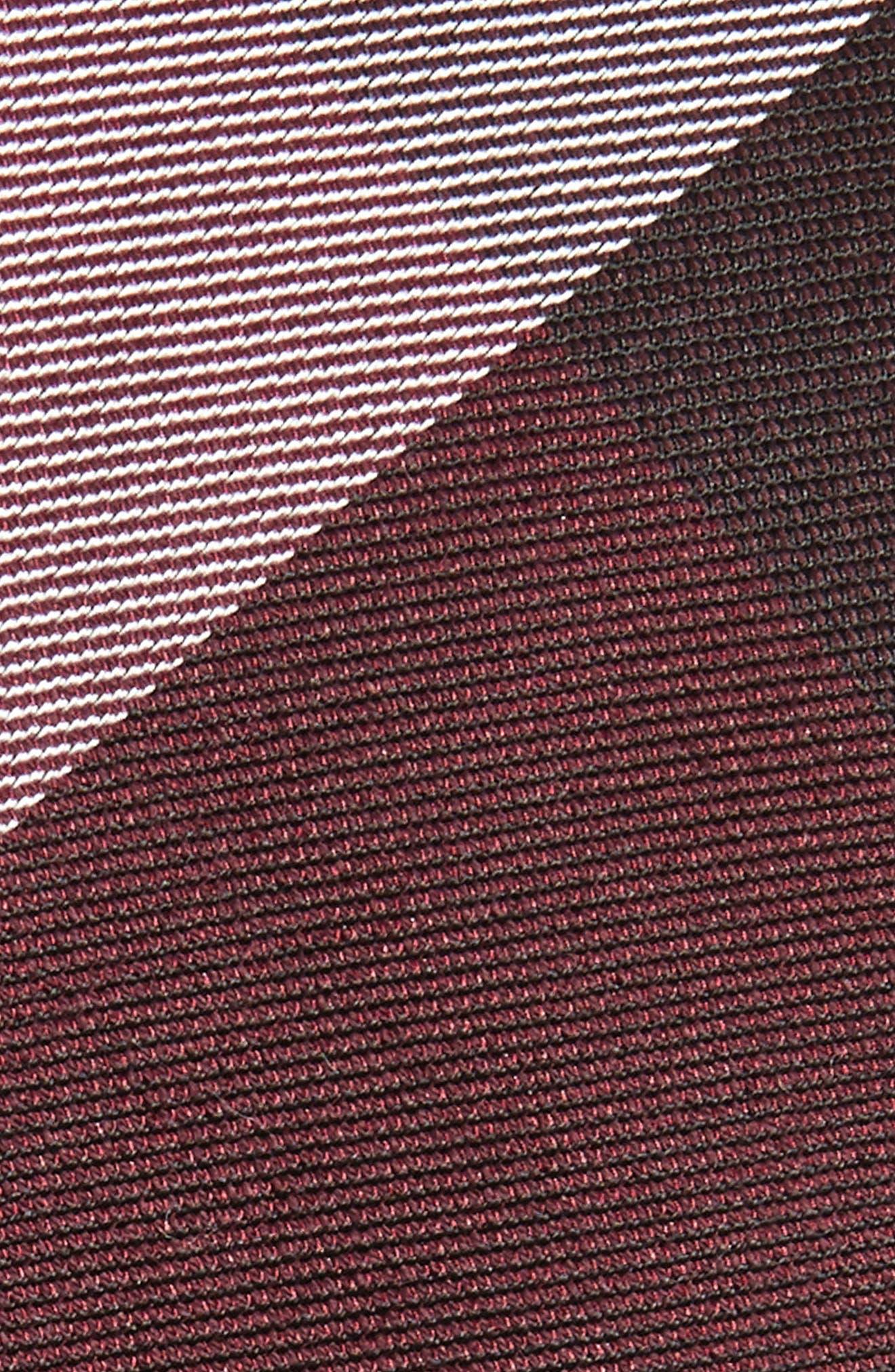 West Bison Plaid Wool & Silk Skinny Tie,                             Alternate thumbnail 2, color,                             Burgundy