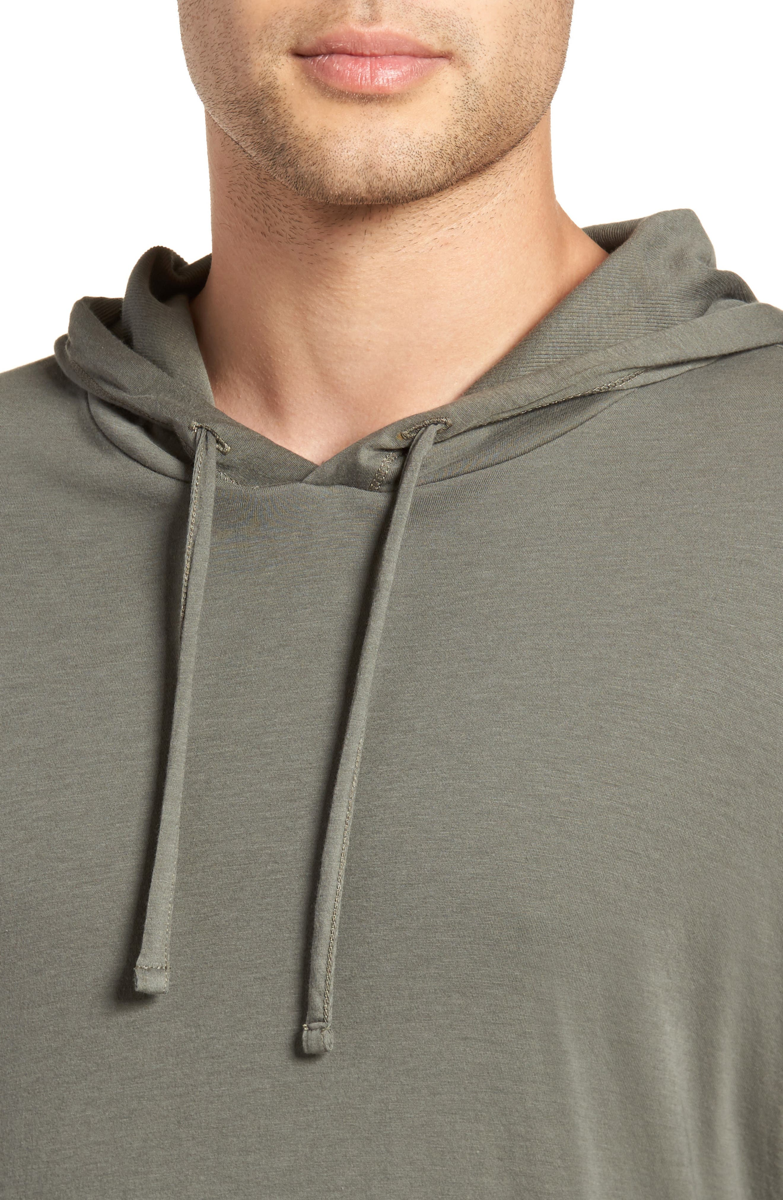 Double Layer Hoodie,                             Alternate thumbnail 4, color,                             Pine