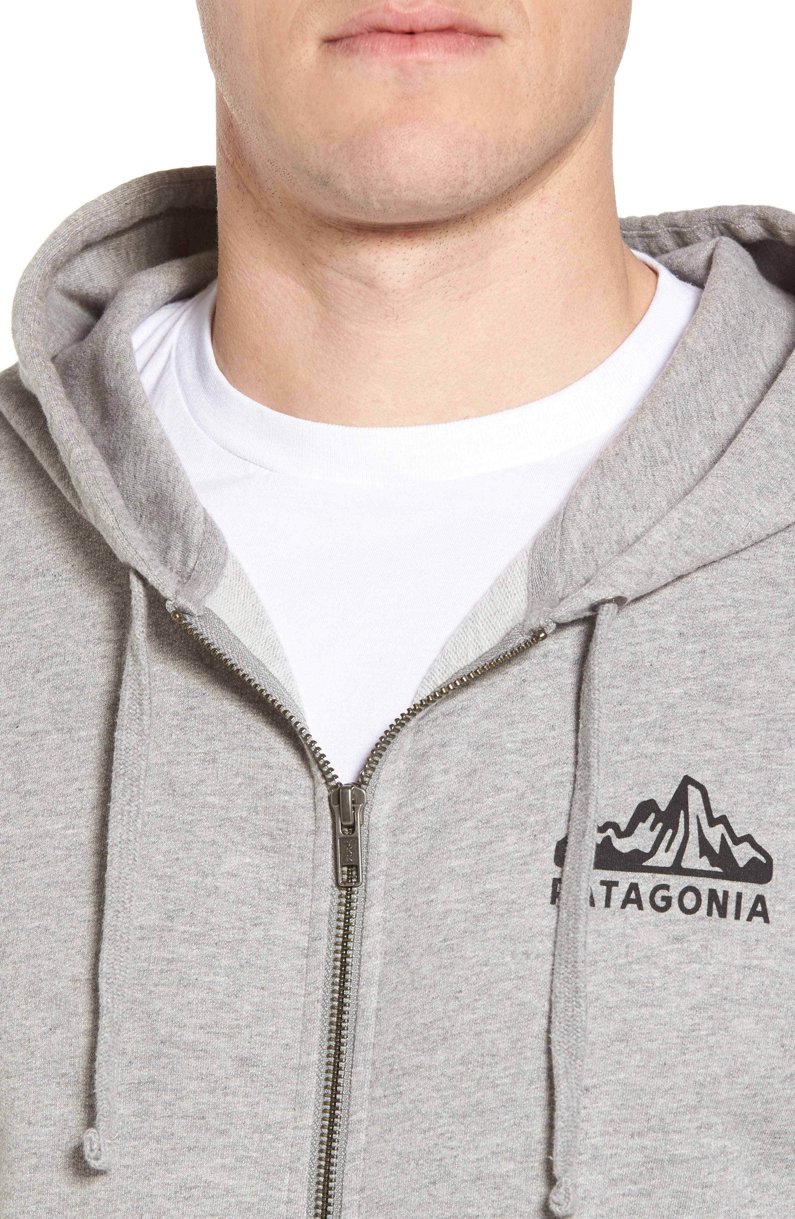 Fitz Roy Frostbite PolyCycle<sup>®</sup> Full Zip Hoodie,                             Alternate thumbnail 4, color,                             Feather Grey