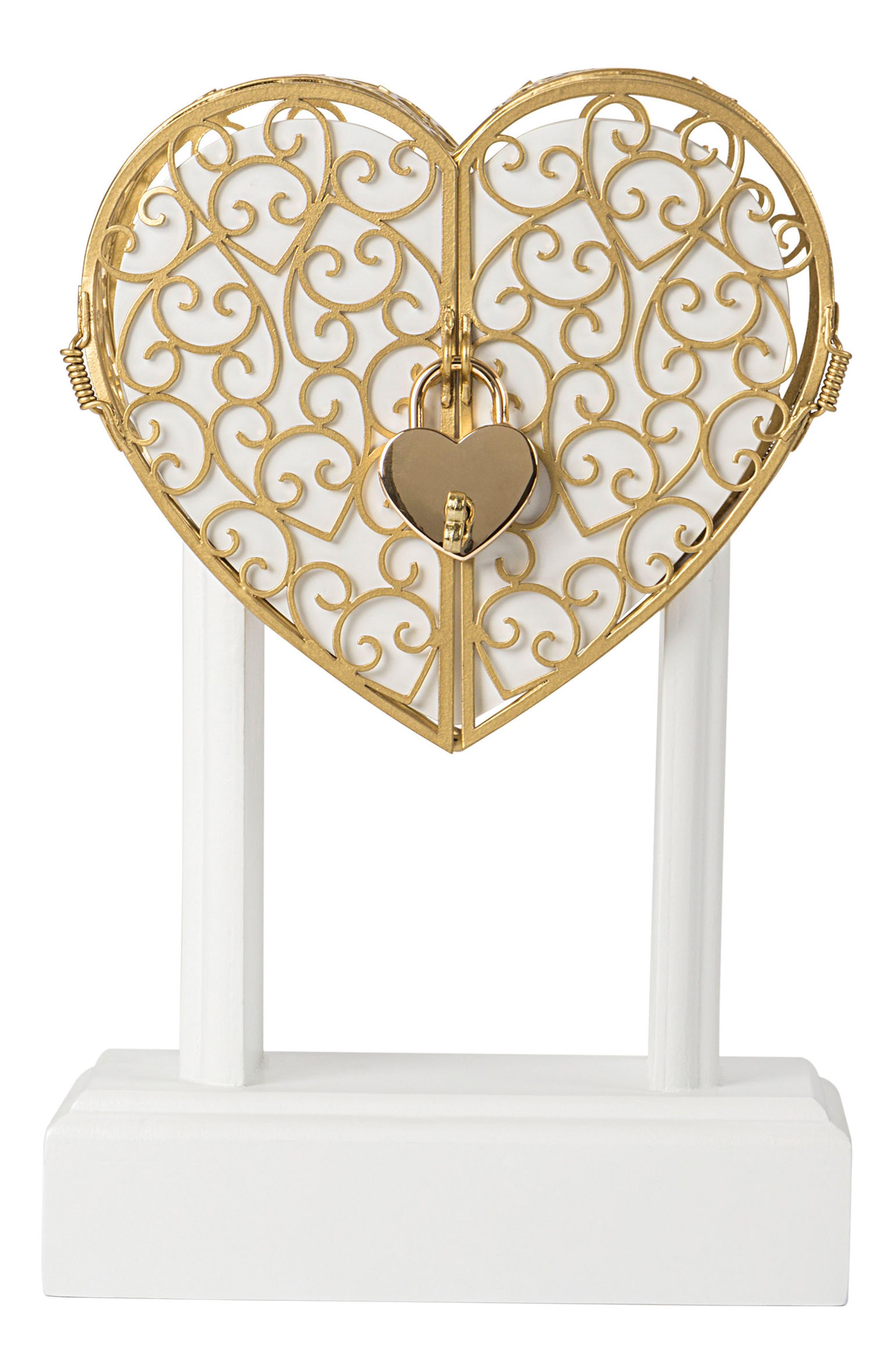 Cathy's Concepts Key To My Heart Monogram Vow Unity Keepsake Box