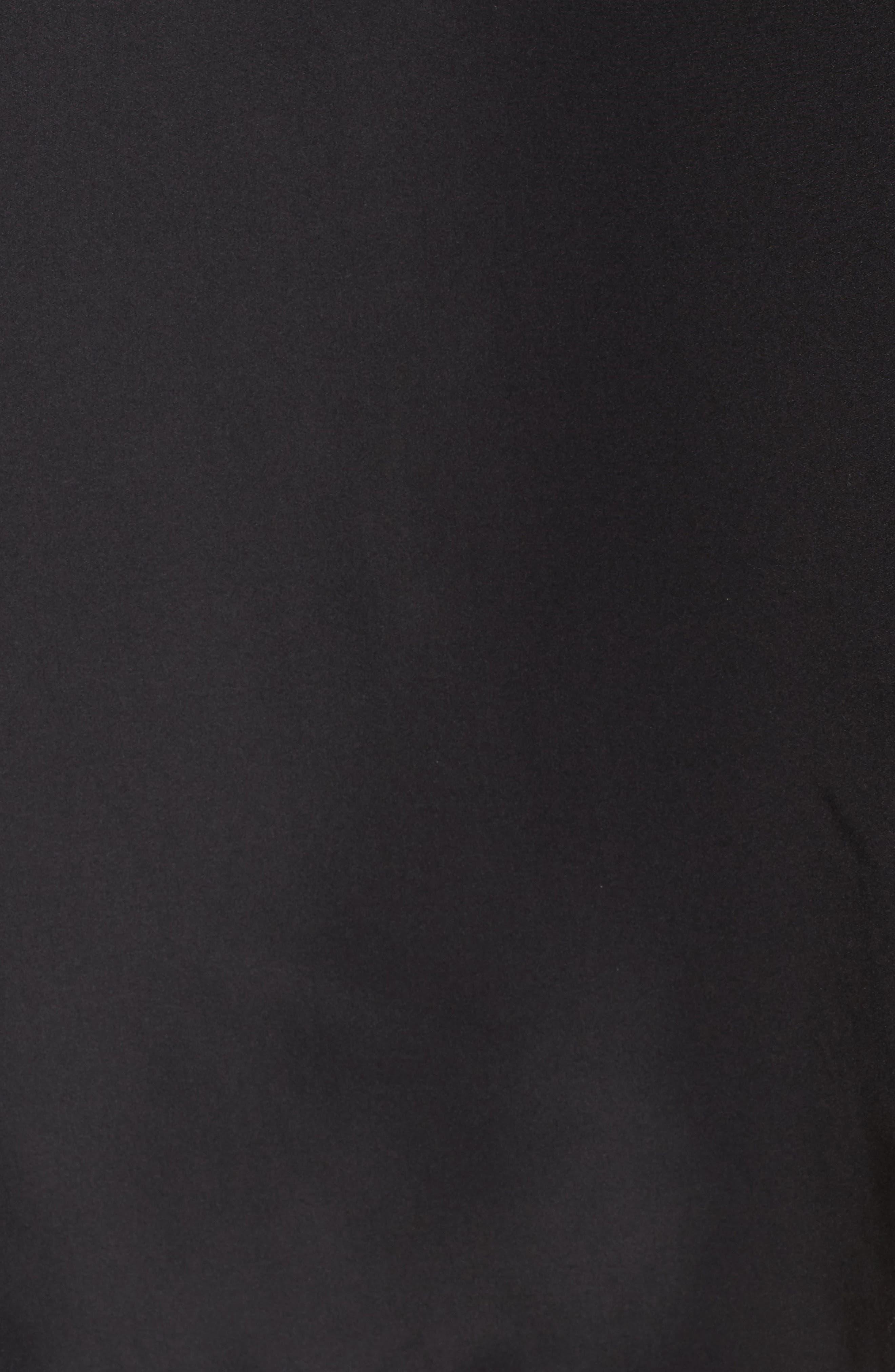 Quarter Zip Hooded Jacket,                             Alternate thumbnail 6, color,                             Black