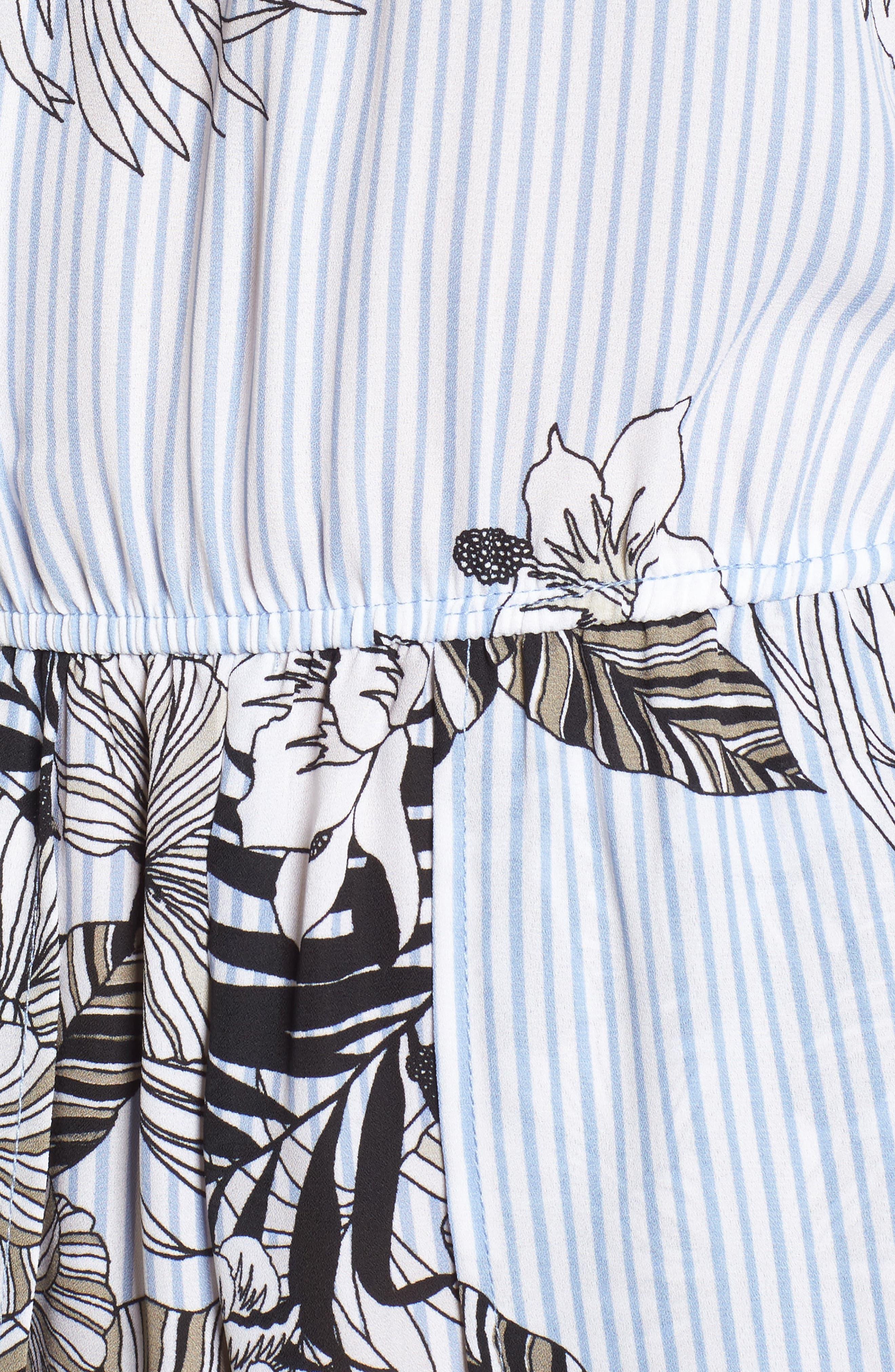 Maxi Romper,                             Alternate thumbnail 5, color,                             Blue/ Black