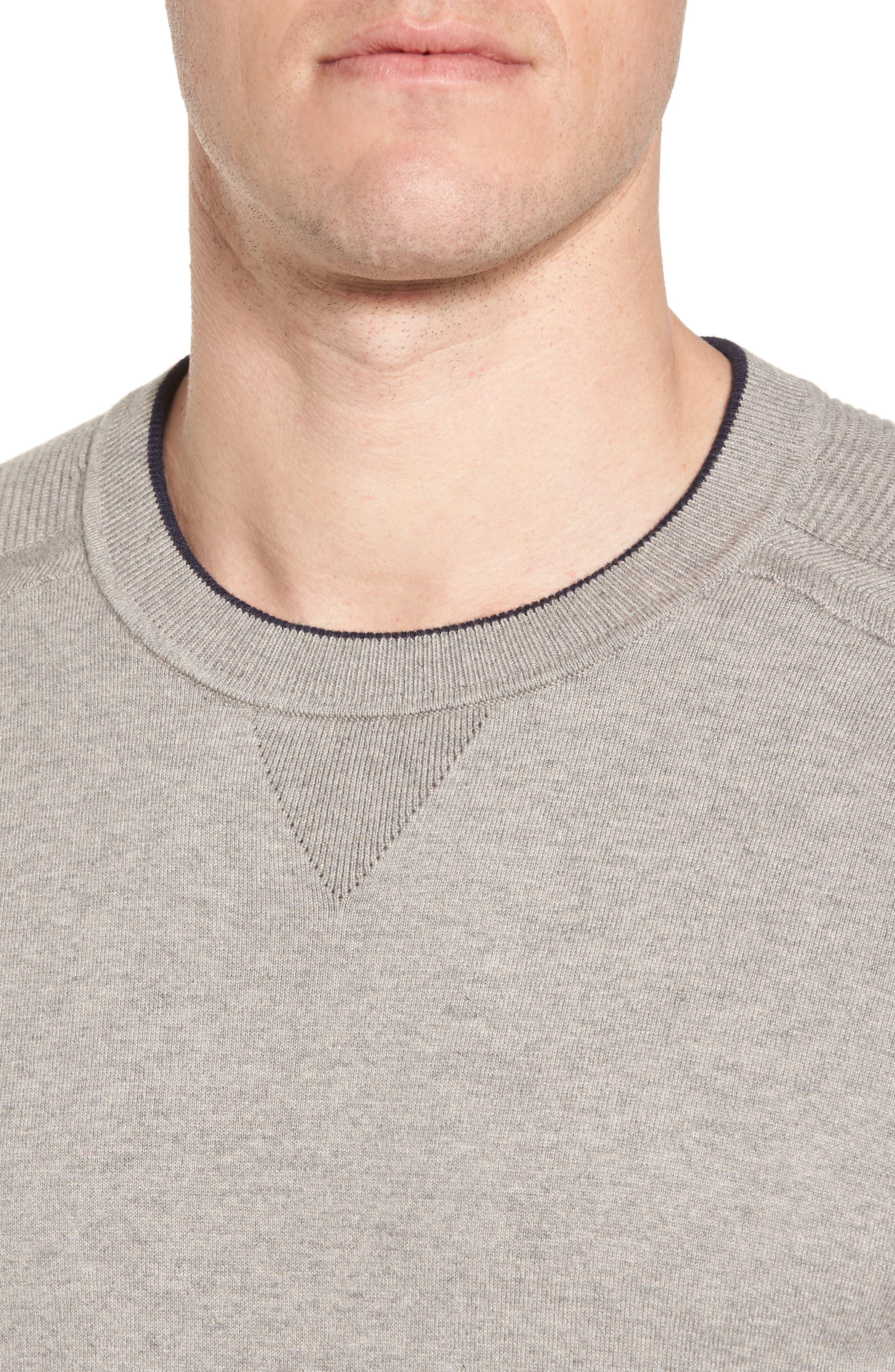Kayfed Rib Sleeve Sweater,                             Alternate thumbnail 4, color,                             Grey Marl