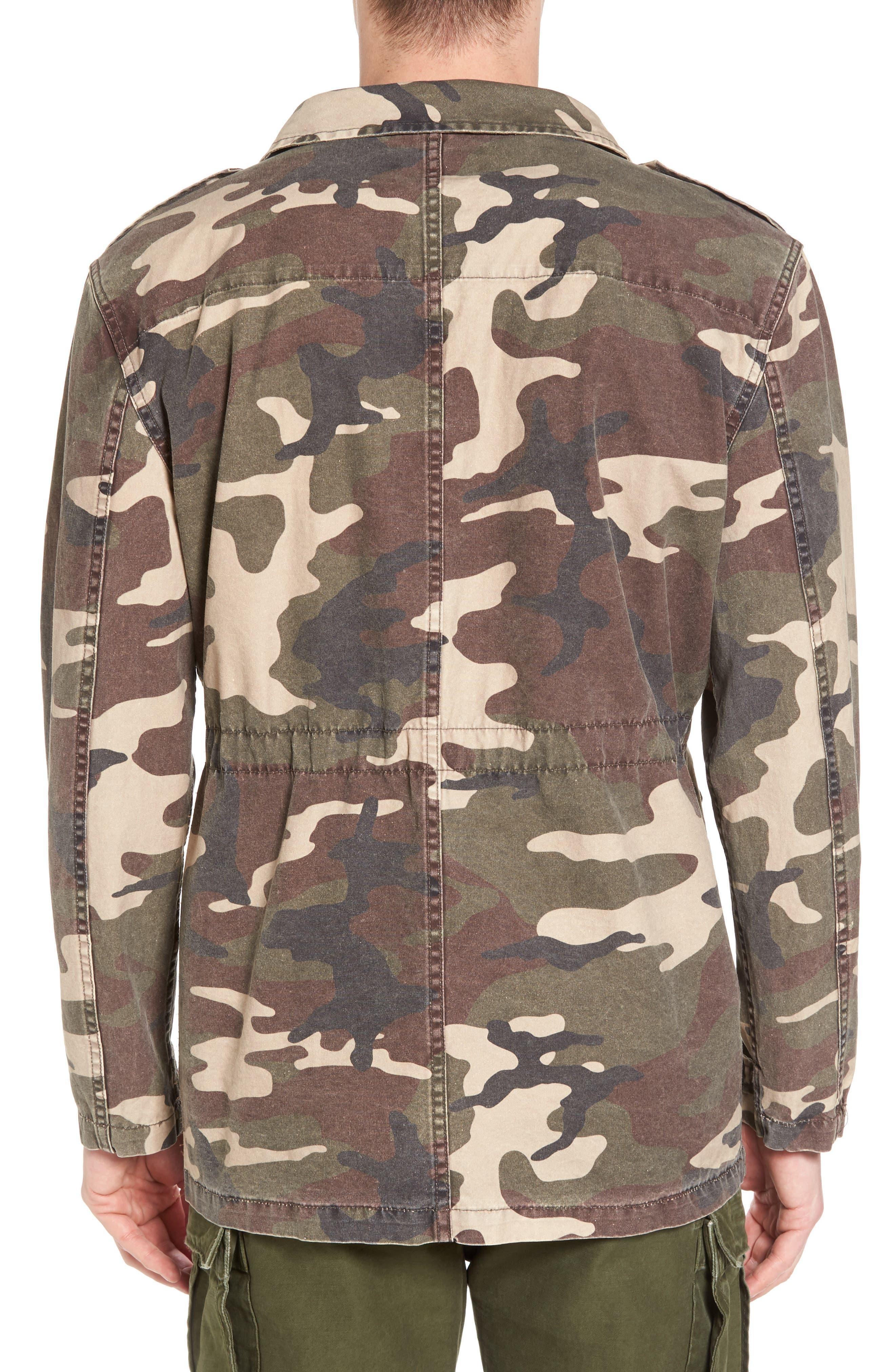 Denim Regular Fit Camo Field Jacket,                             Alternate thumbnail 2, color,                             Camo