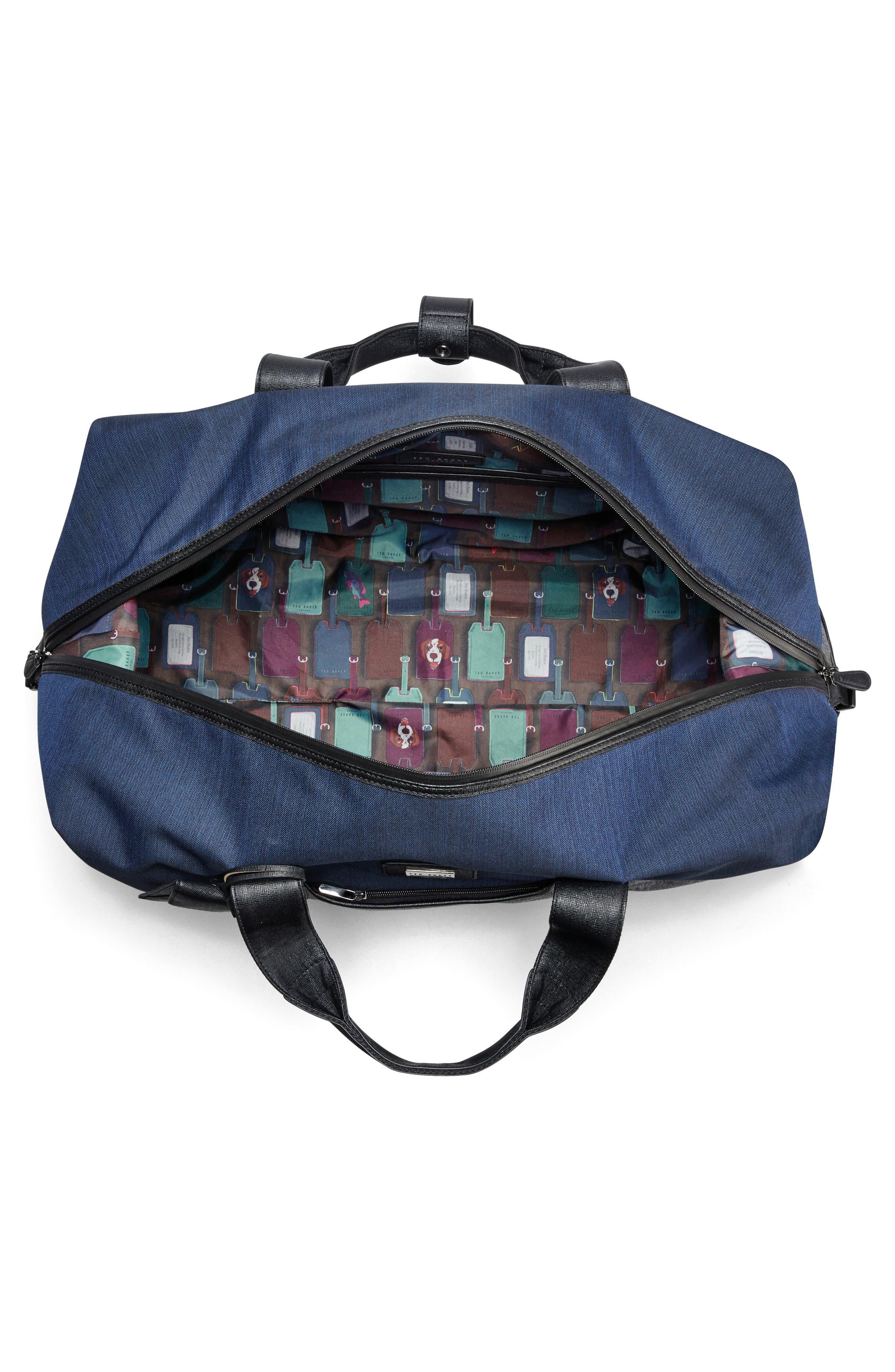 Medium Brunswick Water Resistant Duffel Bag,                             Alternate thumbnail 3, color,                             Grey