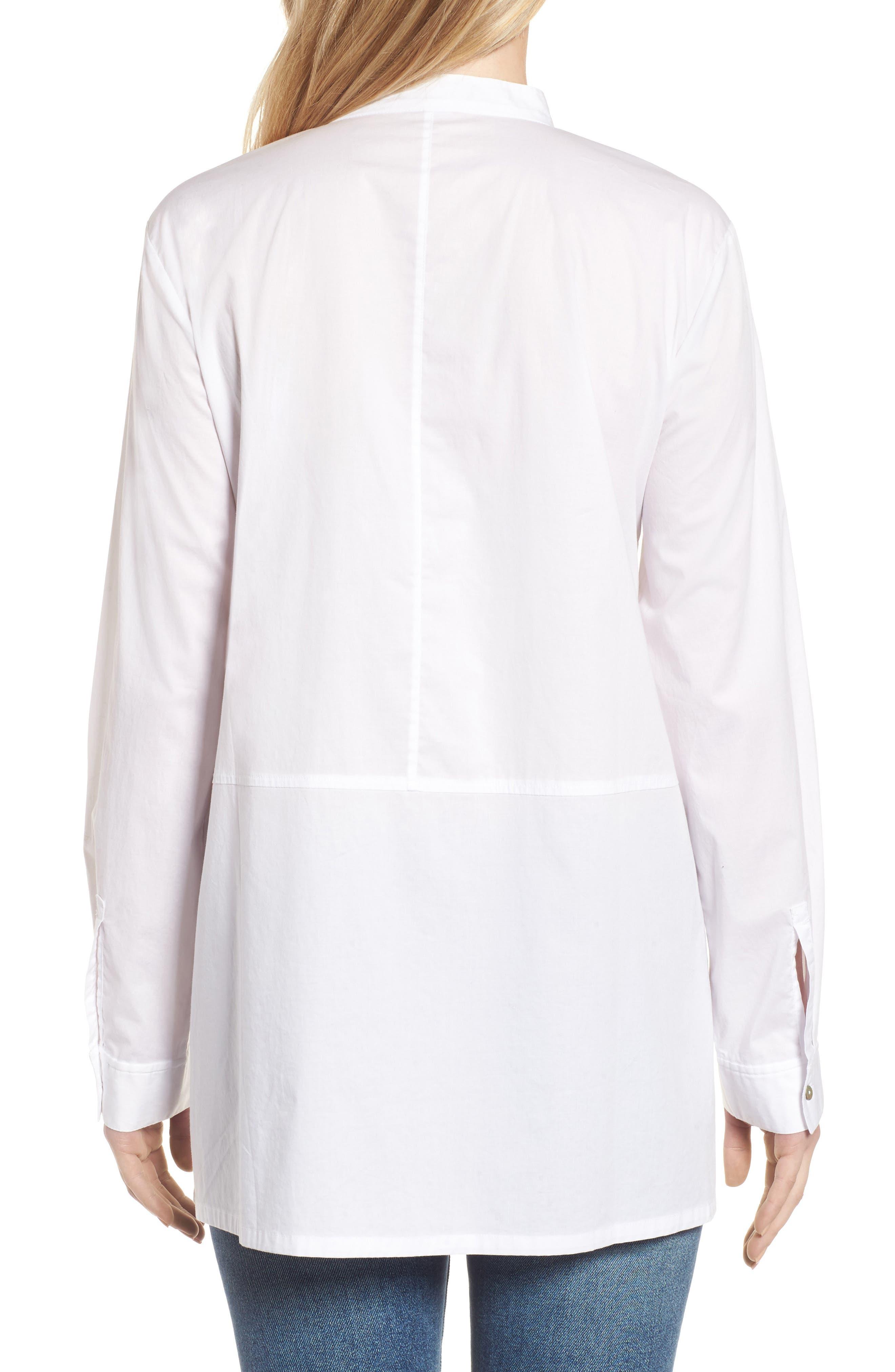 Stretch Organic Cotton Shirt,                             Alternate thumbnail 2, color,                             White