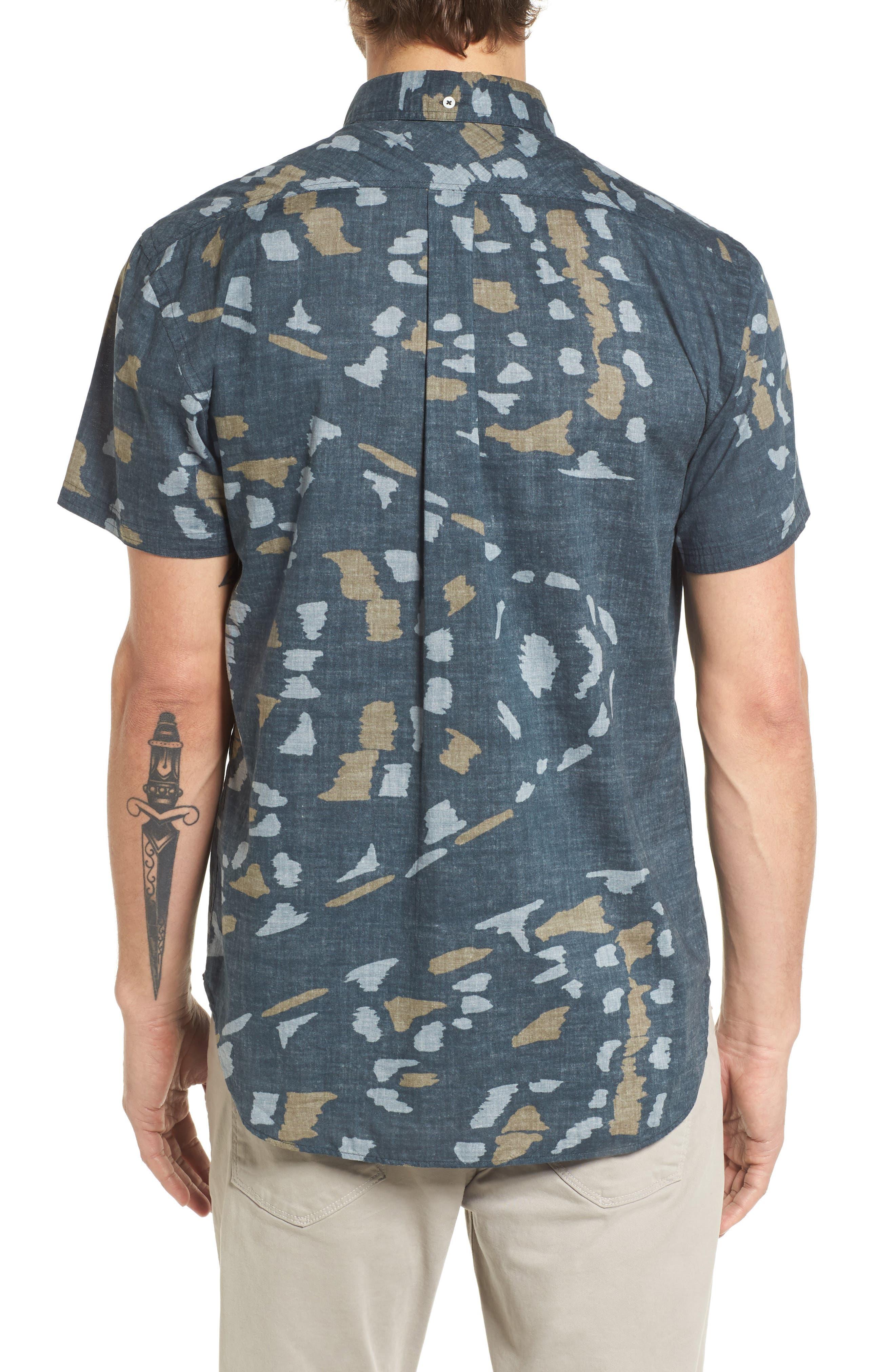 Tuscumbia Slim Fit Sport Shirt,                             Alternate thumbnail 2, color,                             Navy