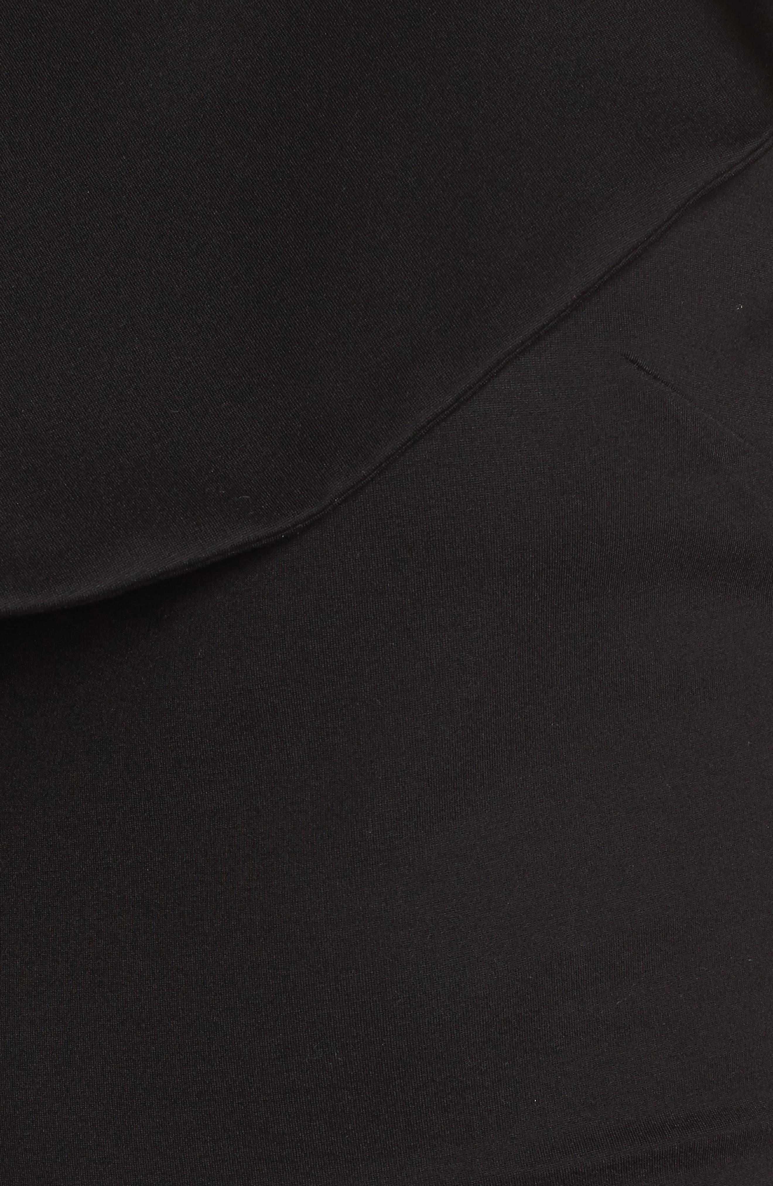 Revel One-Shoulder Top,                             Alternate thumbnail 5, color,                             Black